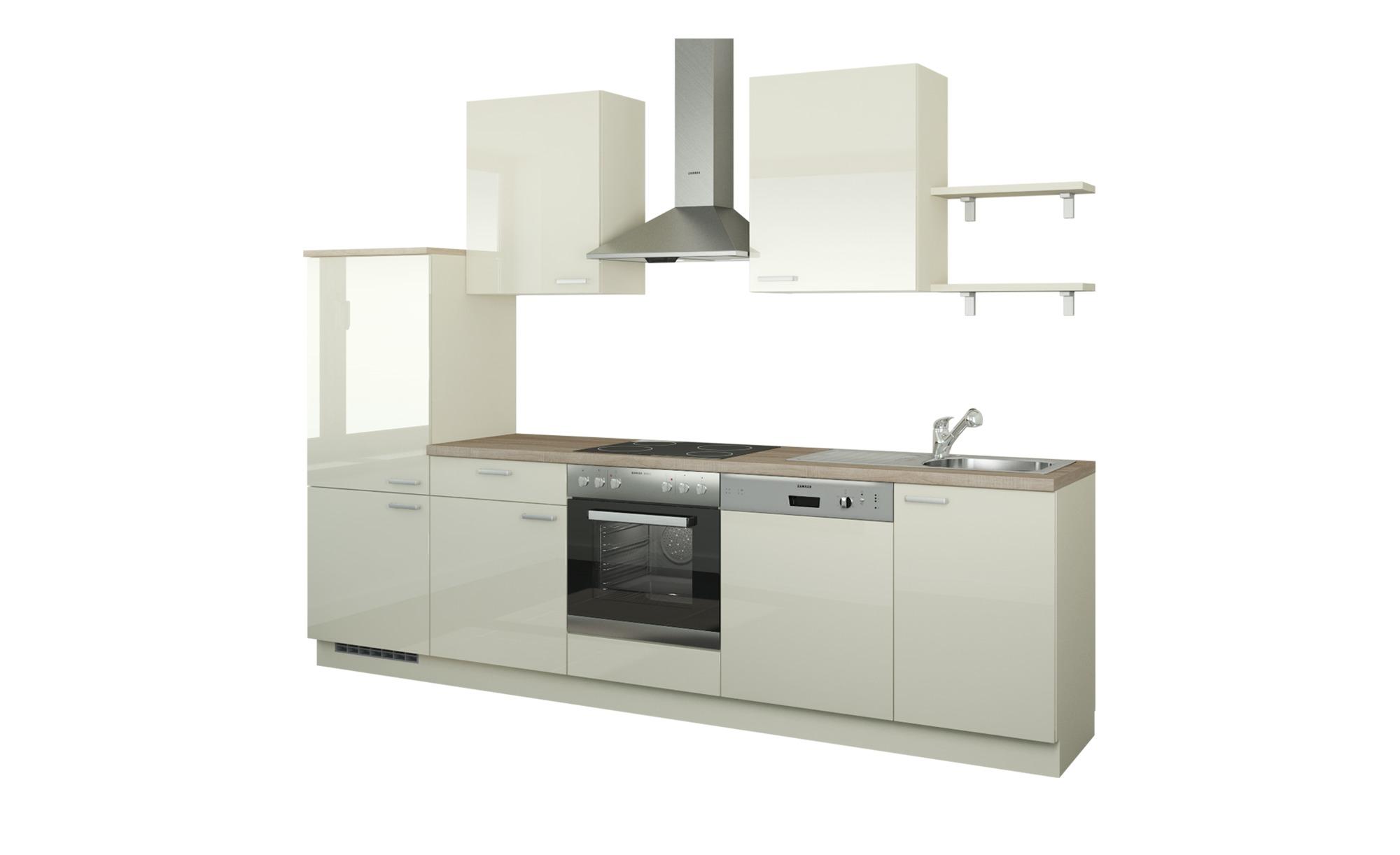 Küchenzeile Ohne Elektrogeräte Köln Magnolia Creme Ausführung Links