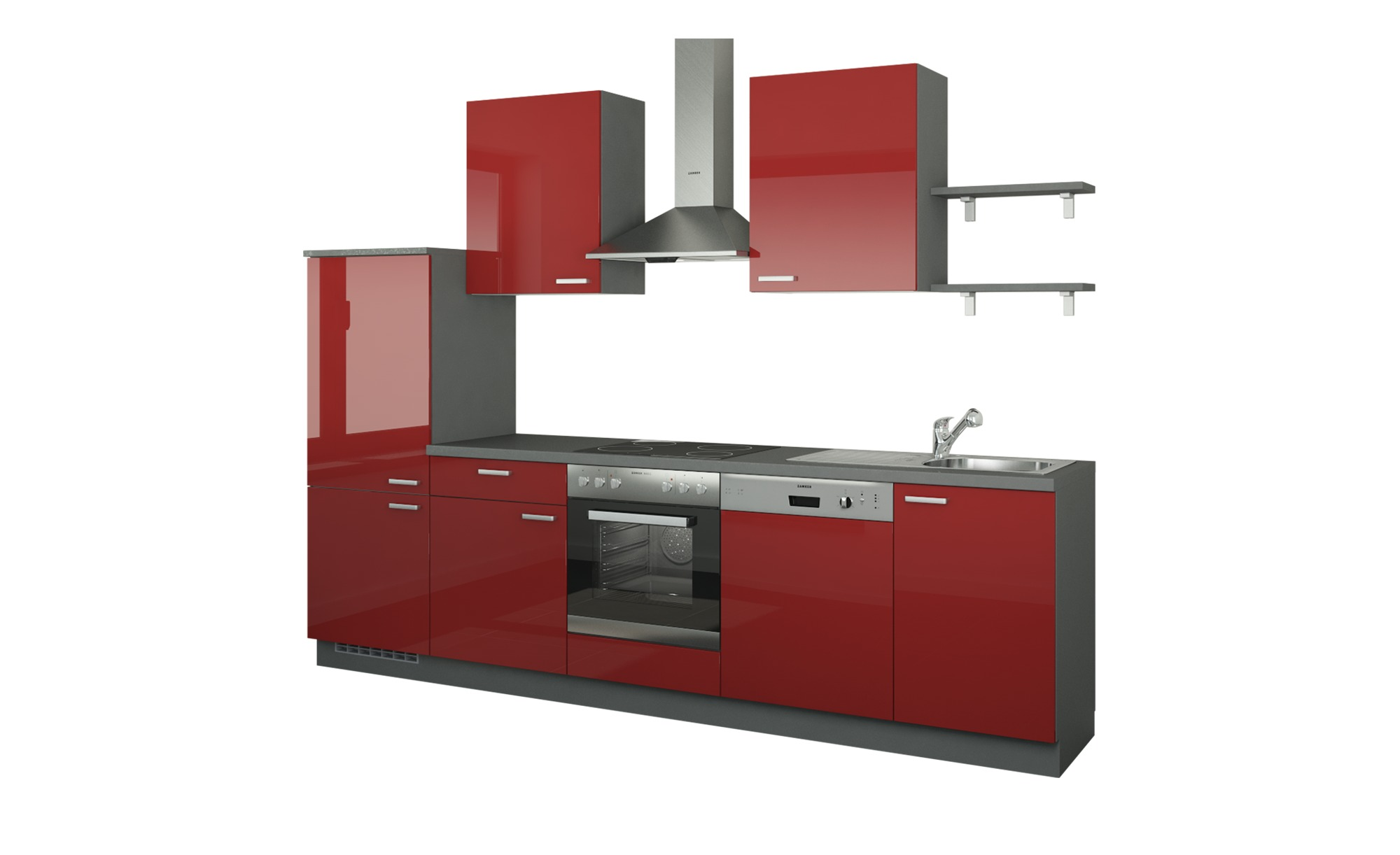 Küchenzeile ohne Elektrogeräte  Köln ¦ rot ¦ Maße (cm): B: 290 Küchen > Küchenblöcke - Höffner | Küche und Esszimmer > Küchen | Möbel Höffner DE