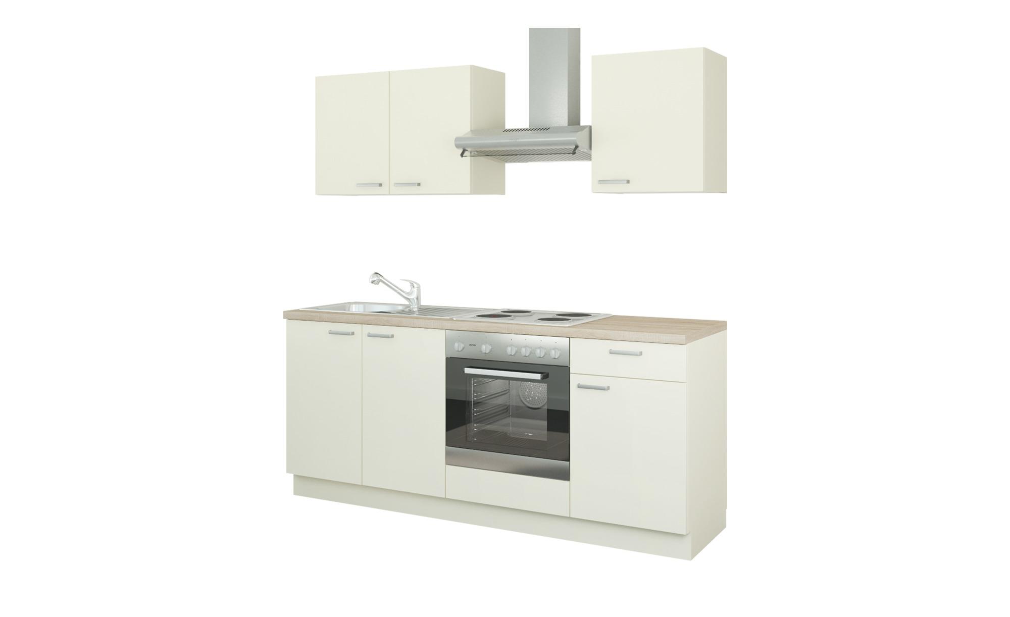 Küchenzeile mit Elektrogeräten  Ahlen ¦ creme Küchen > Küchenblöcke mit E-Geräten - Höffner