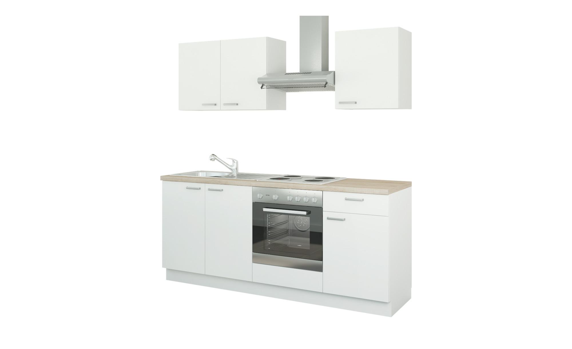 Küchenzeile mit Elektrogeräten  Ahlen ¦ weiß ¦ Maße (cm): B: 200 Küchen > Küchenblöcke mit E-Geräten - Höffner
