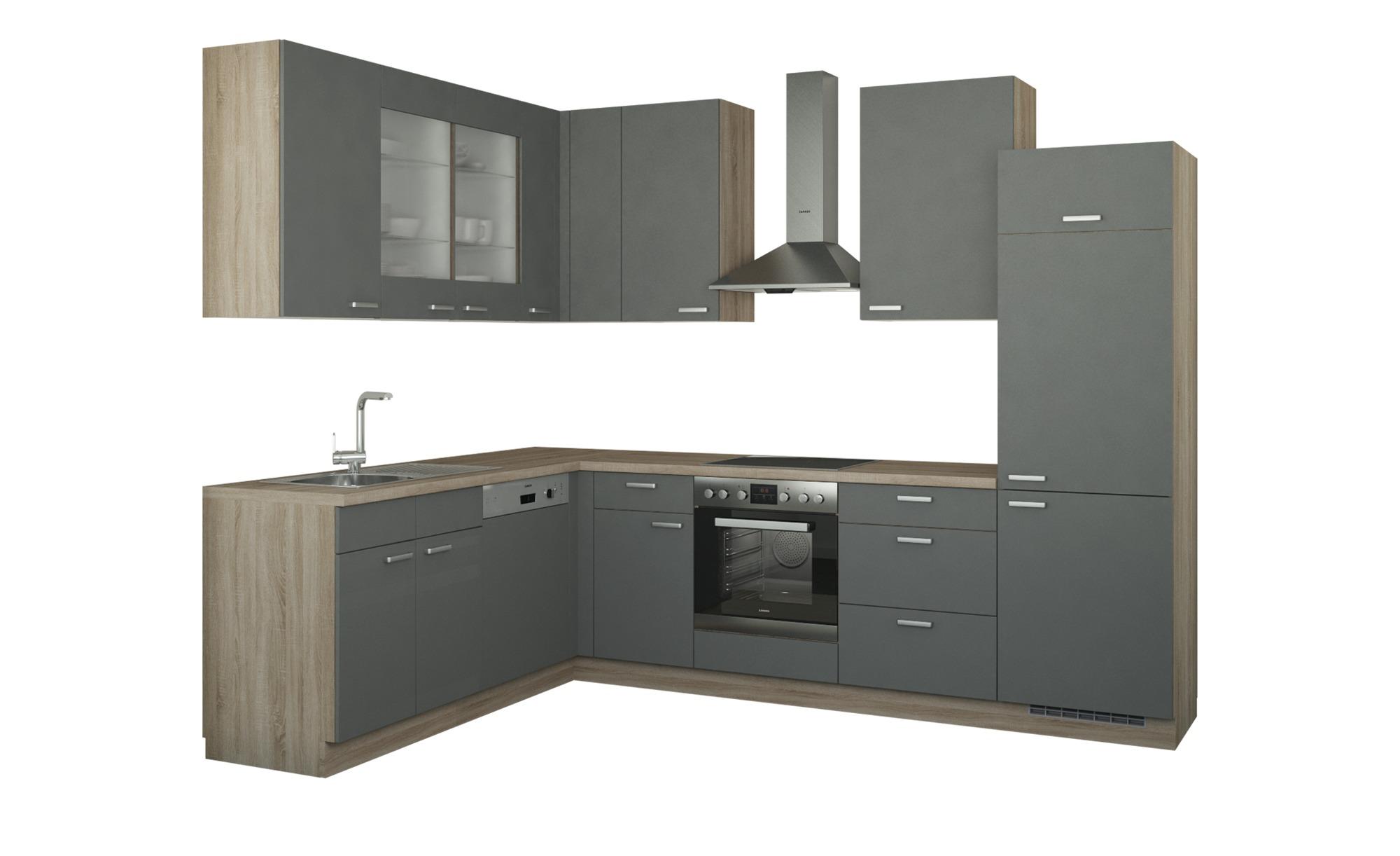 Winkelküche ohne Elektrogeräte  München Küchen > Küchenblöcke - Höffner | Küche und Esszimmer > Küchen > Winkelküchen | Holzwerkstoff - Glas | Möbel Höffner DE