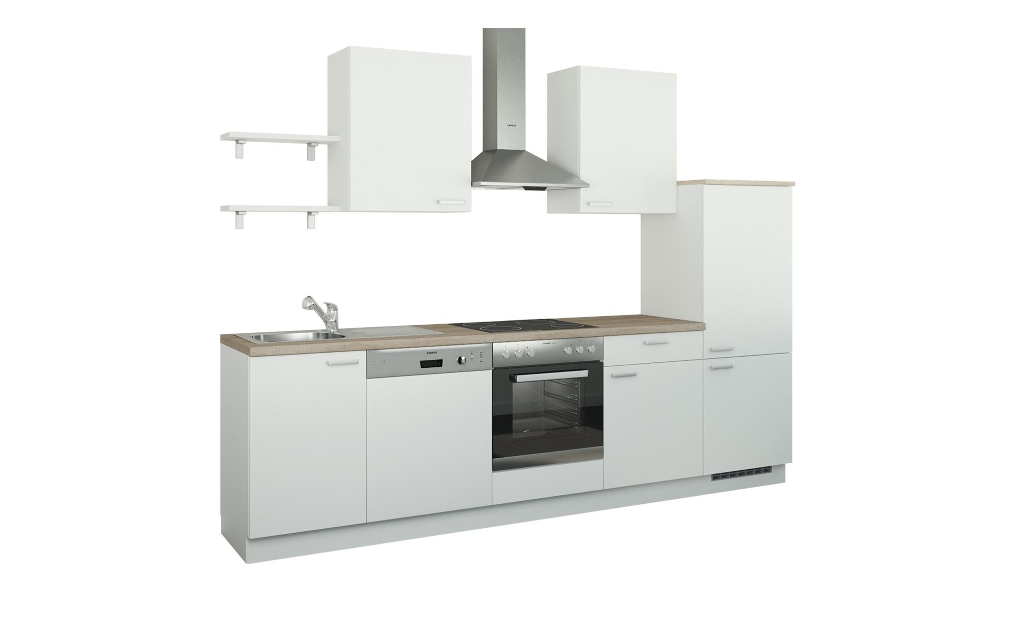 Küchenzeile ohne Elektrogeräte  Köln ¦ weiß ¦ Maße (cm): B: 290 Küchen > Küchenblöcke - Höffner | Küche und Esszimmer > Küchen | Möbel Höffner DE
