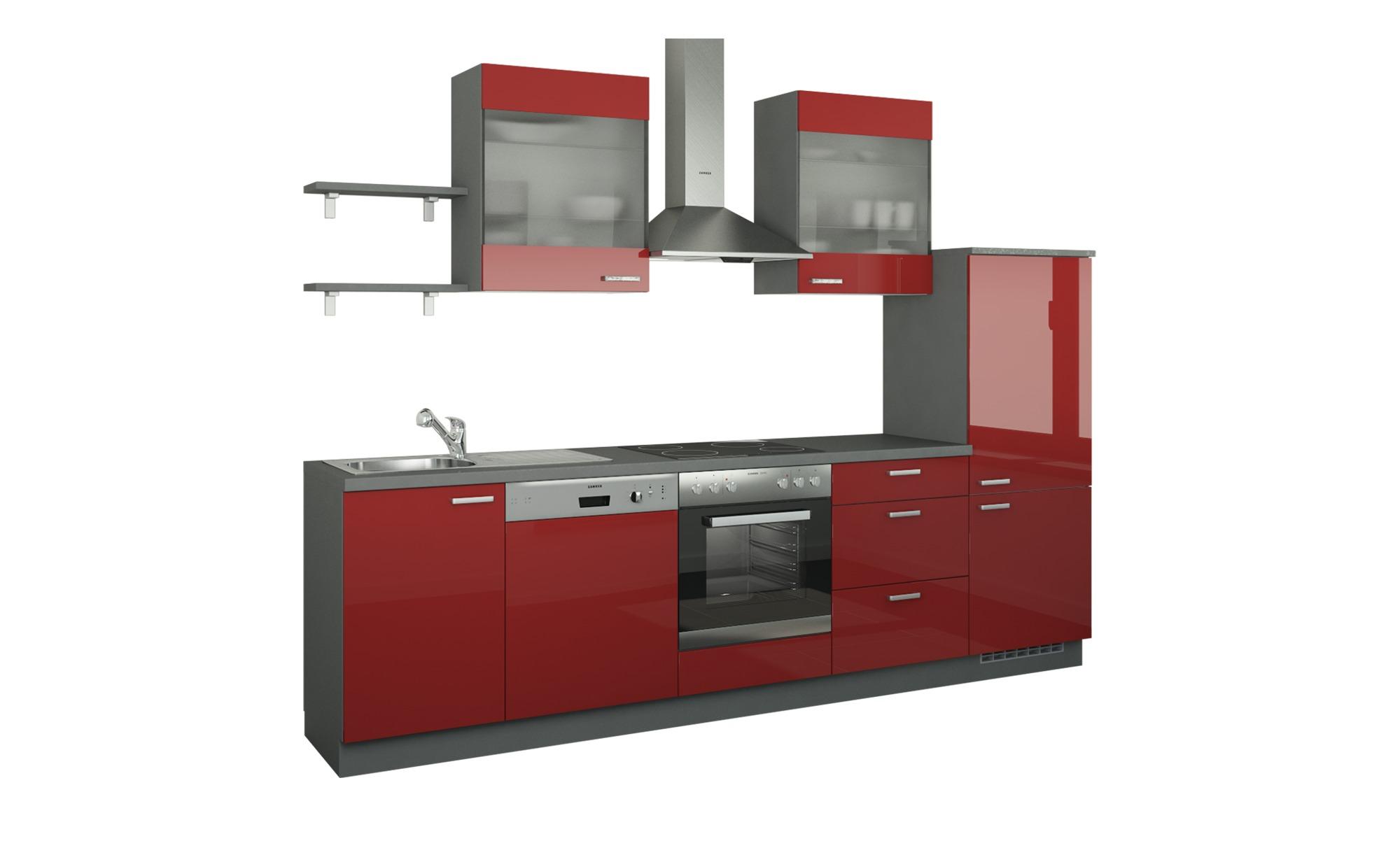 Küchenzeile ohne Elektrogeräte  Hamburg ¦ rot ¦ Maße (cm): B: 290 Küchen > Küchenblöcke ohne E-Geräte - Höffner | Küche und Esszimmer > Küchen > Küchenzeilen | Möbel Höffner DE