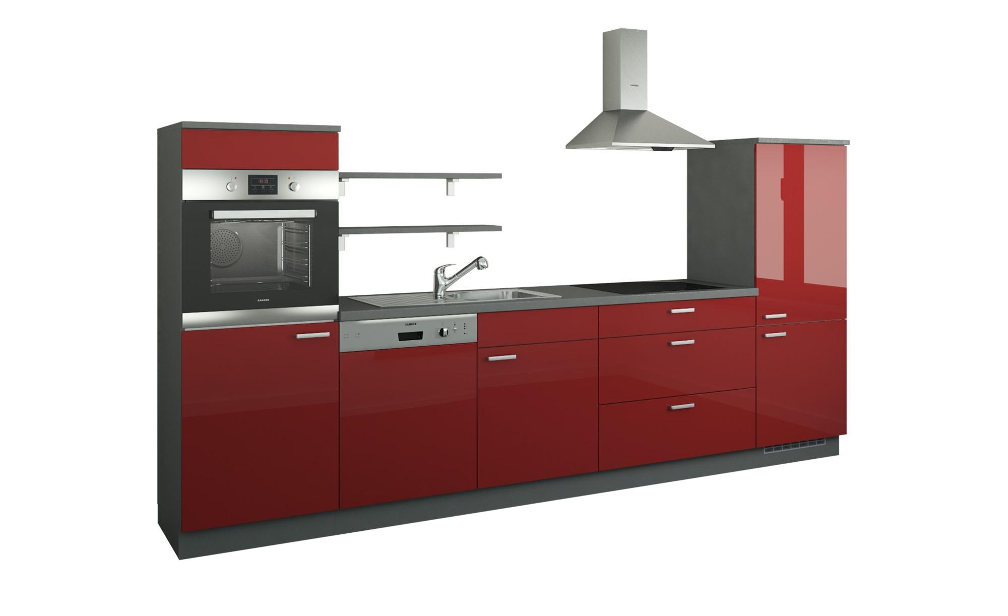 Küchenzeile ohne Elektrogeräte  Kassel ¦ rot ¦ Maße (cm): B: 330 Küchen > Küchenblöcke ohne E-Geräte - Höffner