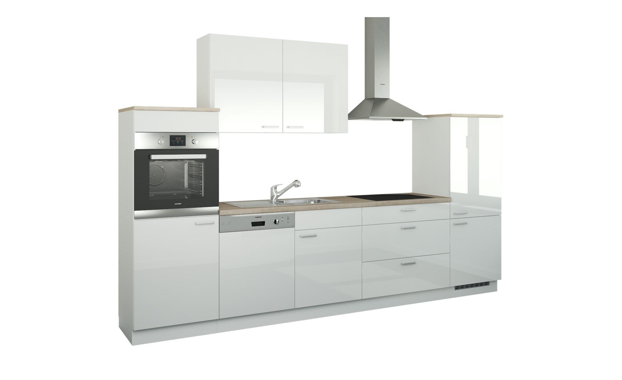 Küchenzeile ohne Elektrogeräte  Neuss ¦ weiß ¦ Maße (cm): B: 330 Küchen > Küchenblöcke - Höffner | Küche und Esszimmer > Küchen > Küchenzeilen | Möbel Höffner DE