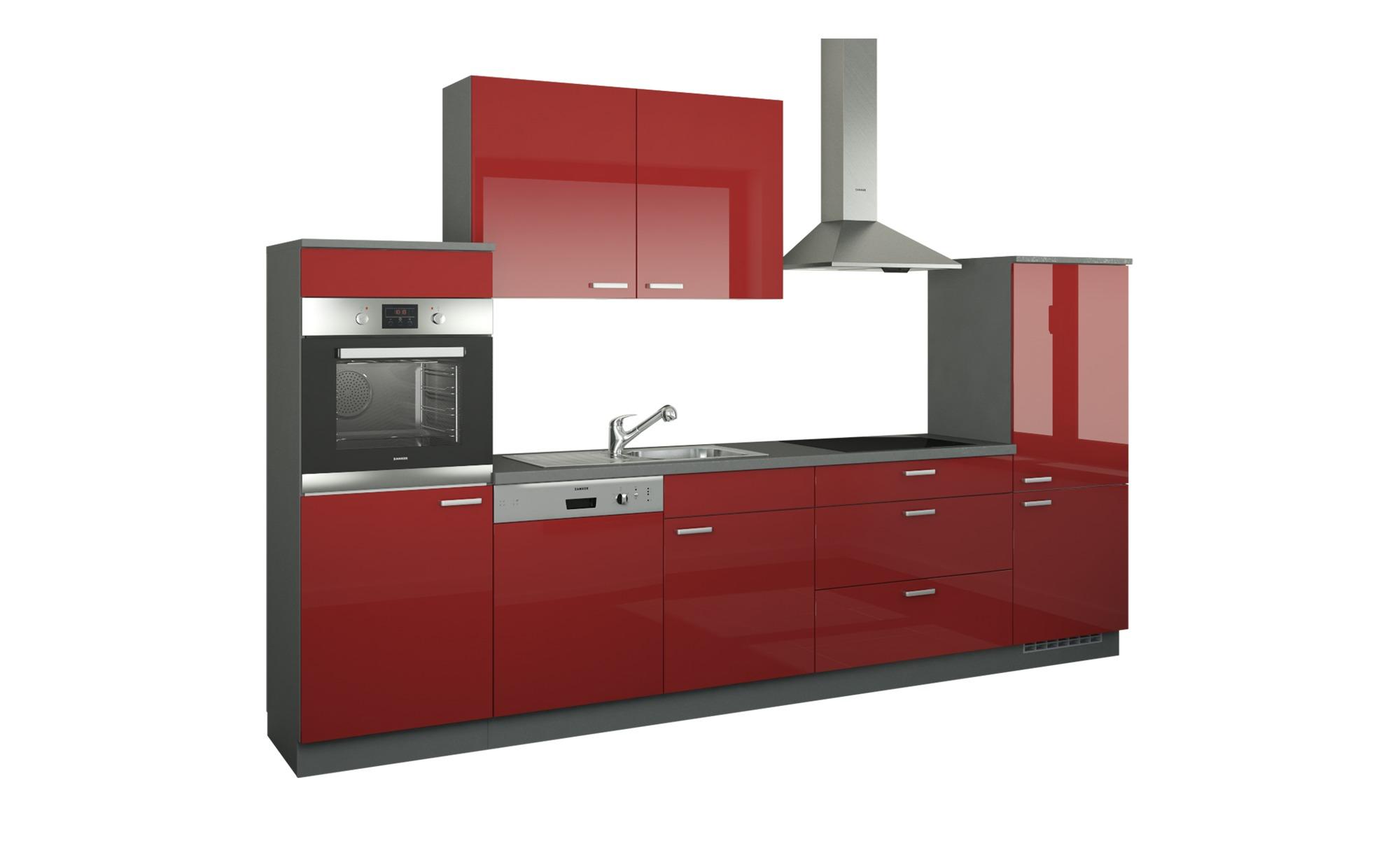 Küchenzeile ohne Elektrogeräte  Neuss ¦ rot ¦ Maße (cm): B: 330 Küchen > Küchenblöcke ohne E-Geräte - Höffner
