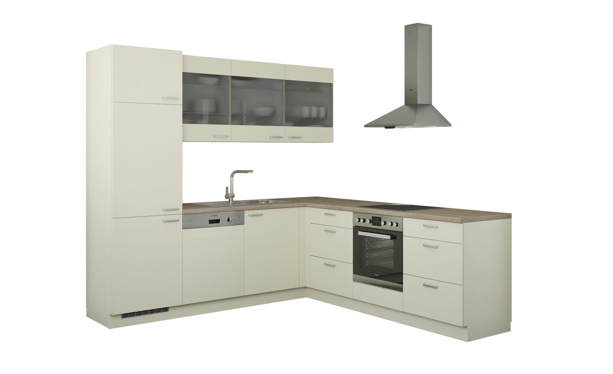 Winkelküche ohne Elektrogeräte  Sylt ¦ creme Küchen > Küchenblöcke - Höffner | Küche und Esszimmer > Küchen | Creme | Holzwerkstoff - Glas | Möbel Höffner DE