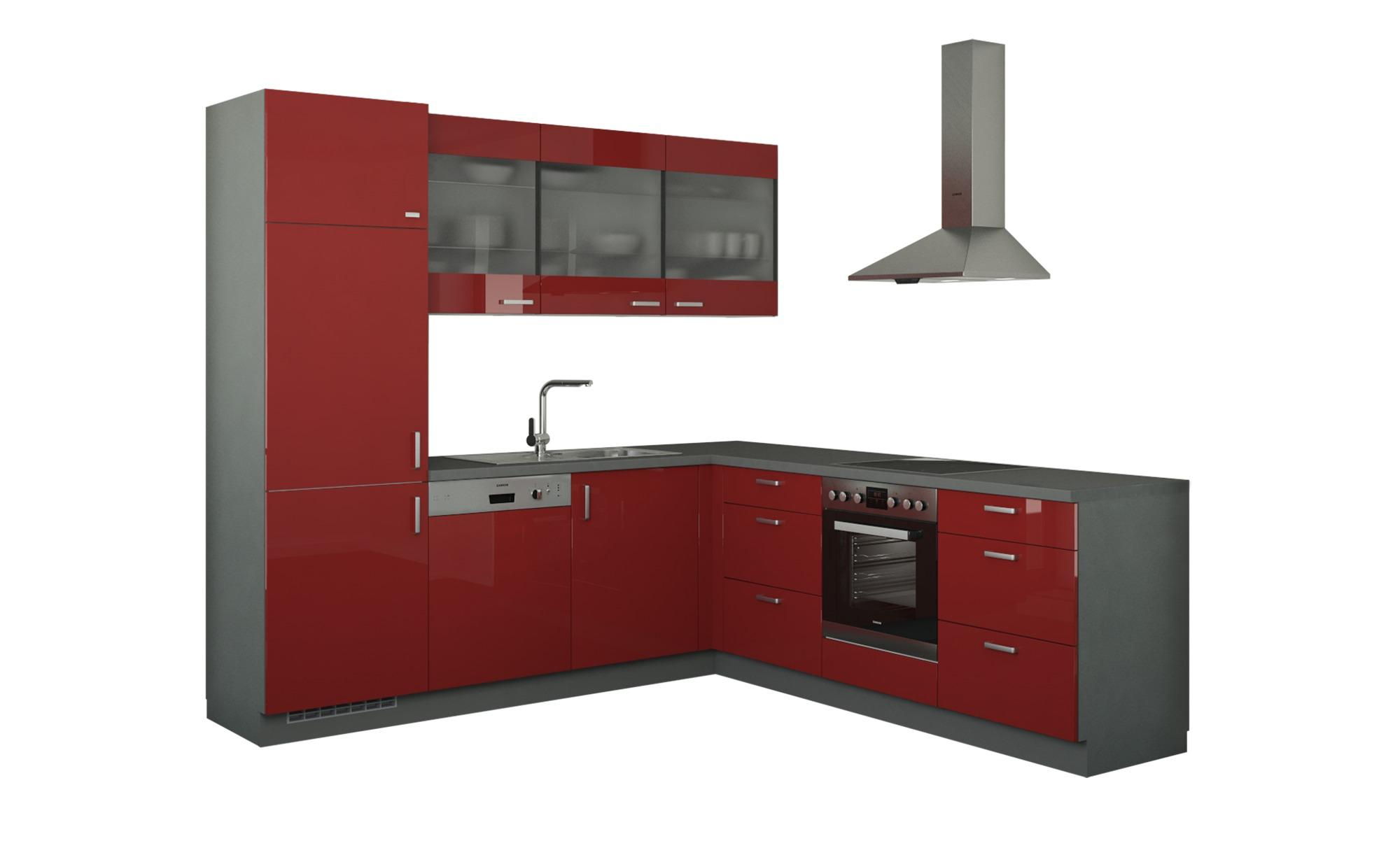 Winkelküche ohne Elektrogeräte  Sylt ¦ rot Küchen > Küchenblöcke ohne E-Geräte - Höffner | Küche und Esszimmer > Küchen > Winkelküchen | Möbel Höffner DE