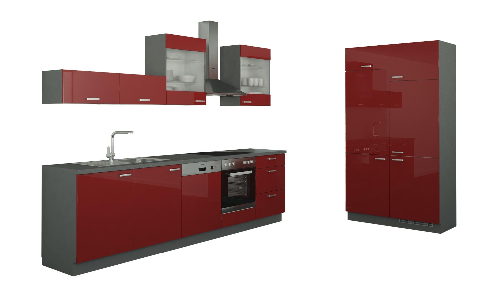 Küchenzeile ohne Elektrogeräte  Potsdam ¦ rot Küchen > Küchenblöcke - Höffner