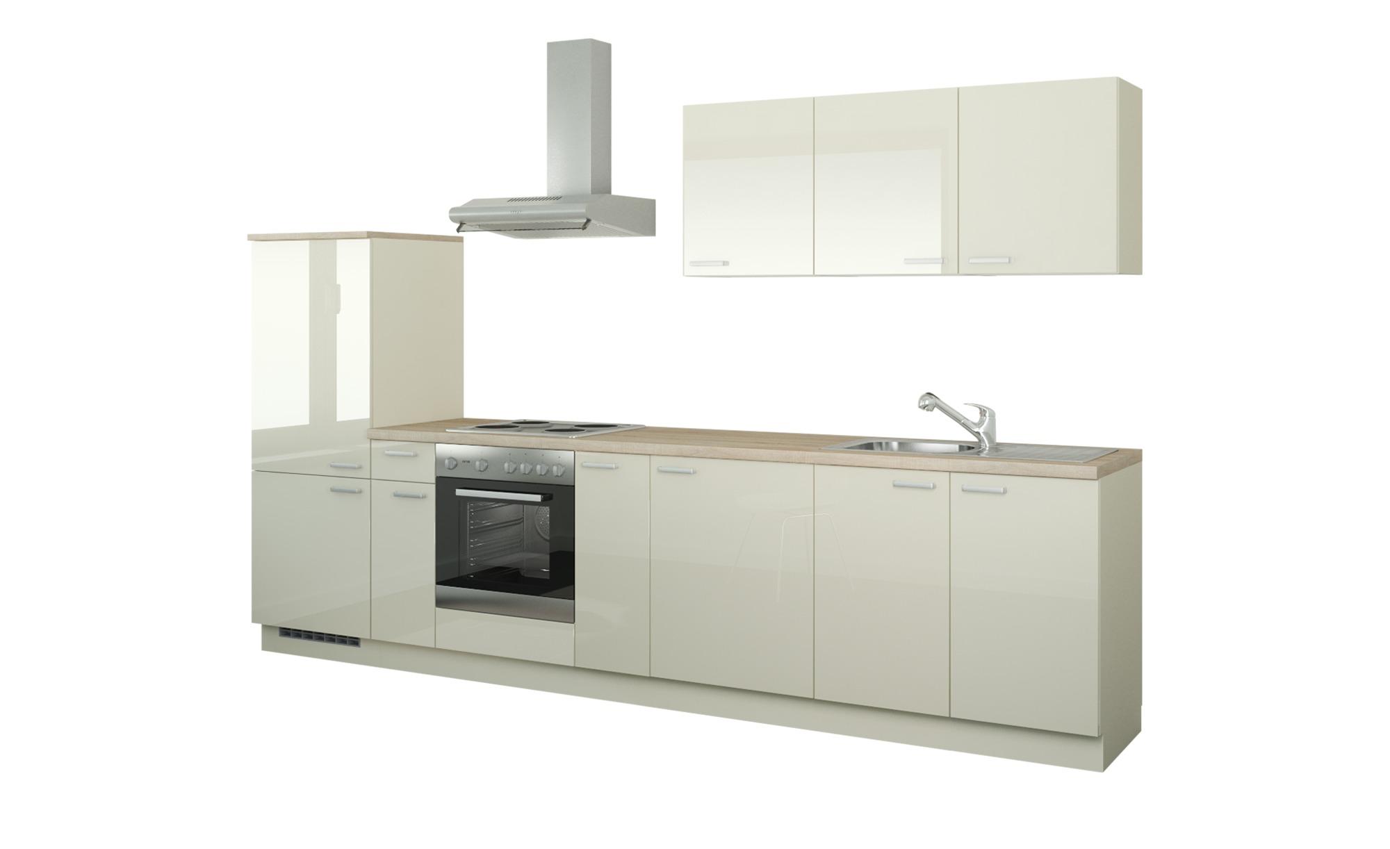 *Küchenzeile mit Elektrogeräten  Fulda ¦ creme ¦ Maße (cm): B: 330 Küchen > Küchenblöcke mit E-Geräten – Höffner*
