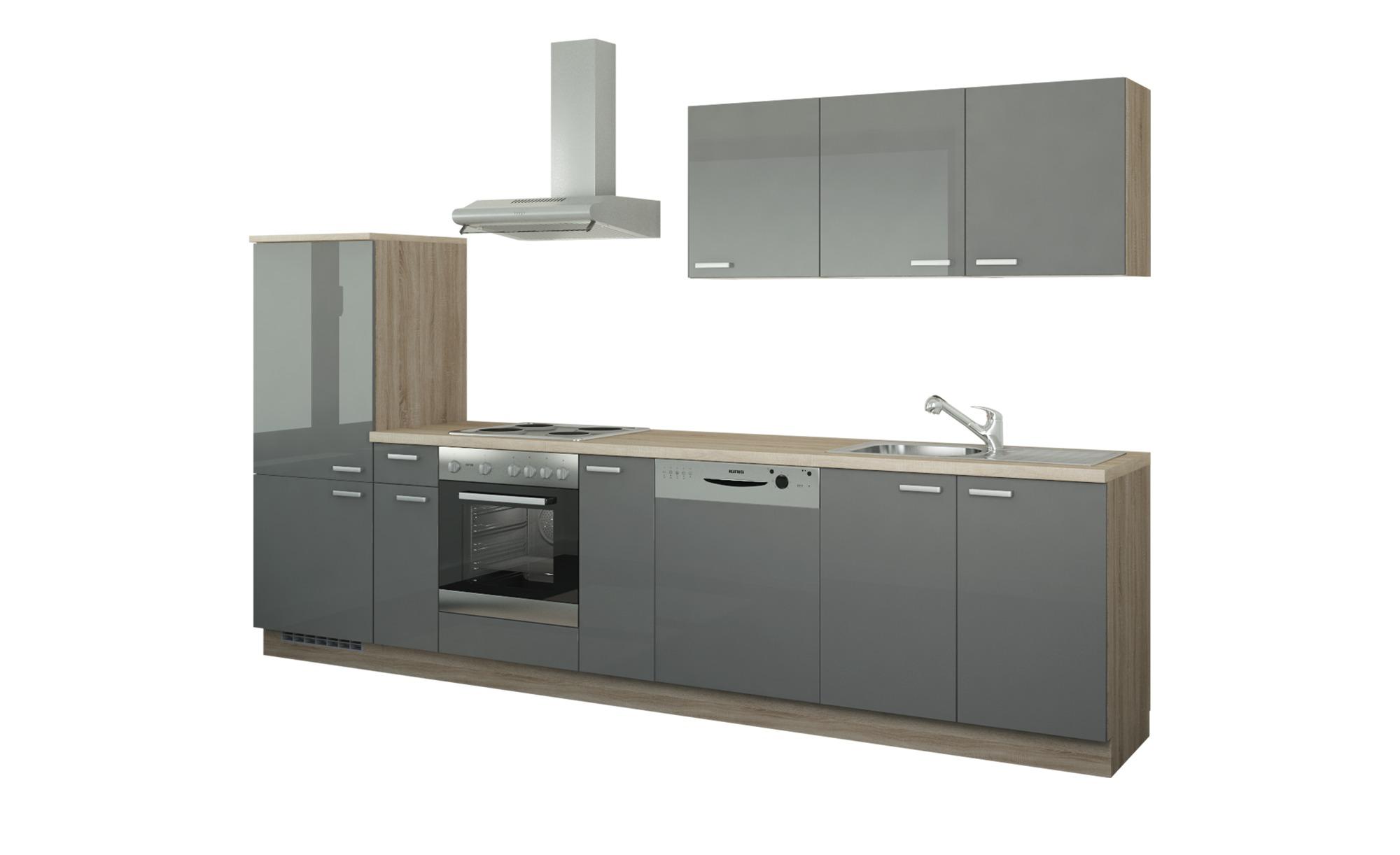 Küchenzeile mit Elektrogeräten  Coburg ¦ Maße (cm): B: 330 Küchen > Küchenblöcke - Höffner | Küche und Esszimmer > Küchen | Holzwerkstoff | Möbel Höffner DE