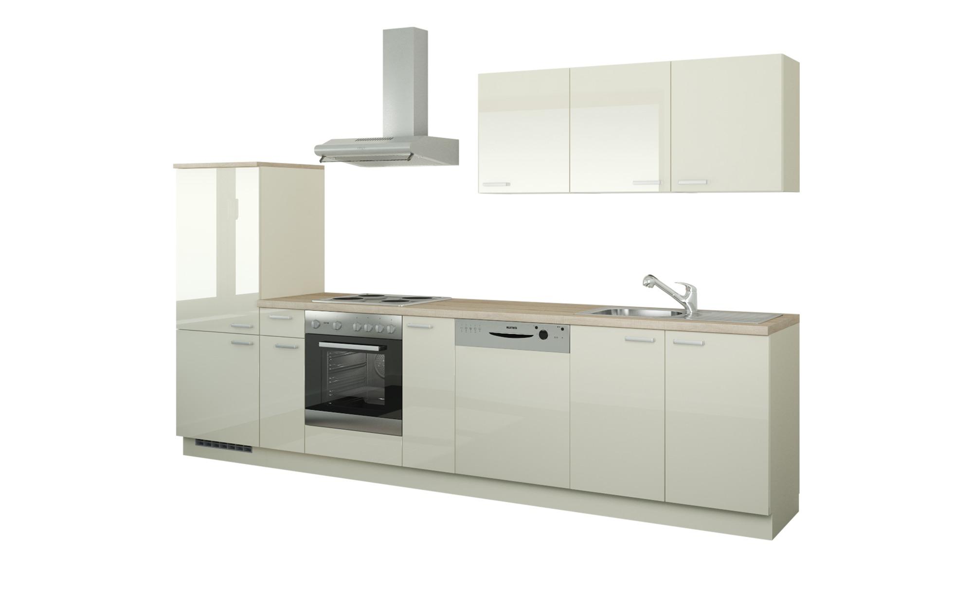 Küchenzeile mit Elektrogeräten  Coburg ¦ creme Küchen > Küchenblöcke mit E-Geräten - Höffner