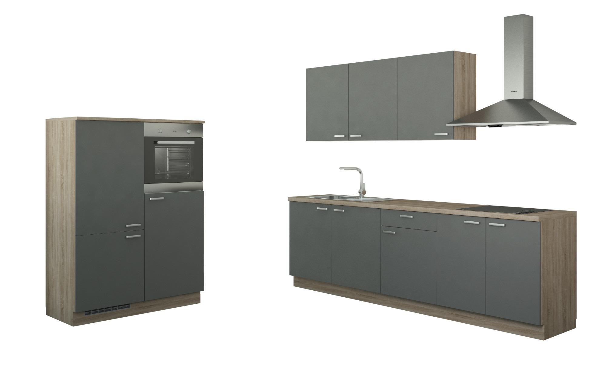 Küchenzeile mit Elektrogeräten   Gotha ¦ grau Küchen > Küchenblöcke - Höffner | Küche und Esszimmer > Küchen > Küchenzeilen | Grau | Holzwerkstoff | Möbel Höffner DE