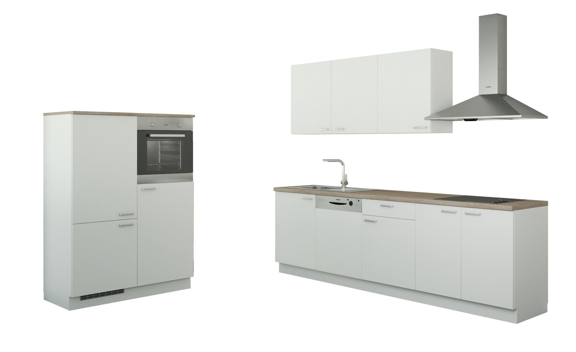 Küchenzeile mit Elektrogeräten  Cottbus ¦ weiß Küchen > Küchenblöcke mit E-Geräten - Höffner   Küche und Esszimmer > Küchen   Möbel Höffner DE
