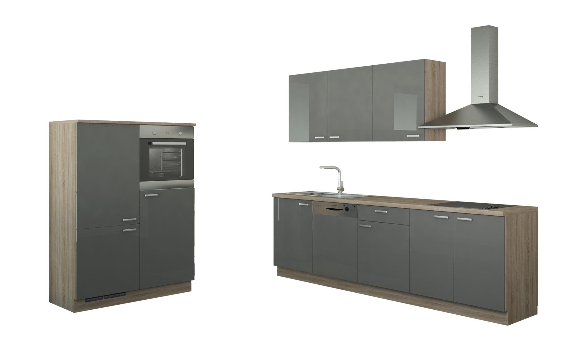 Küchenzeile mit Elektrogeräten  Cottbus ¦ Maße (cm): B: 390 Küchen > Küchenblöcke - Höffner | Küche und Esszimmer > Küchen > Küchenzeilen | Holzwerkstoff | Möbel Höffner DE