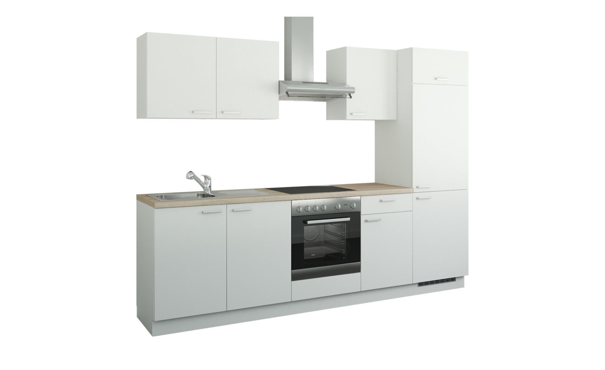 Küchenzeile mit Elektrogeräten  Aachen ¦ weiß ¦ Maße (cm): B: 270 Küchen > Küchenblöcke - Höffner | Küche und Esszimmer > Küchen > Küchenzeilen | Weiß | Holzwerkstoff | Möbel Höffner DE