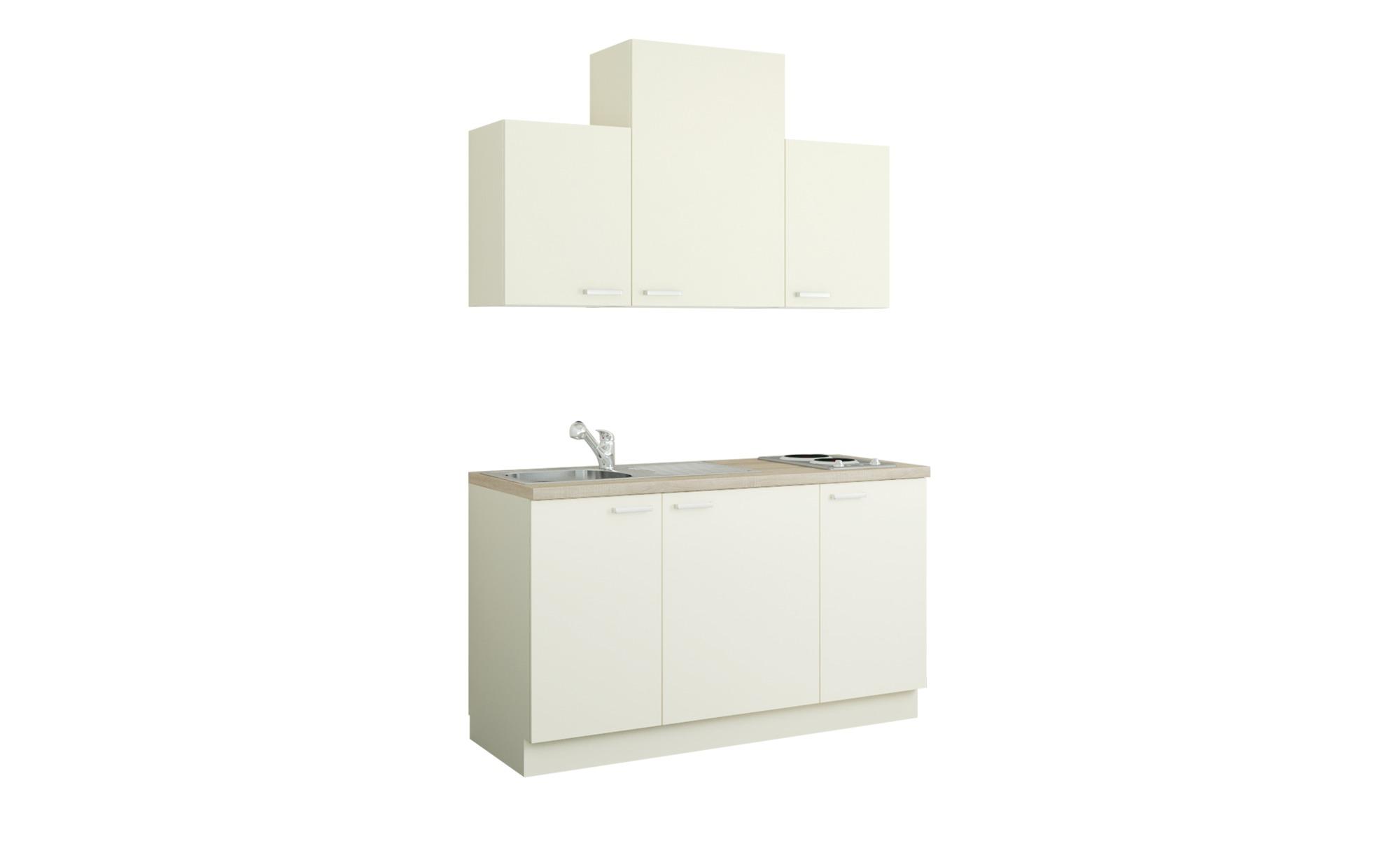 Küchenzeile mit Elektrogeräten  Aue ¦ creme ¦ Maße (cm): B: 150 Küchen > Küchenblöcke mit E-Geräten - Höffner