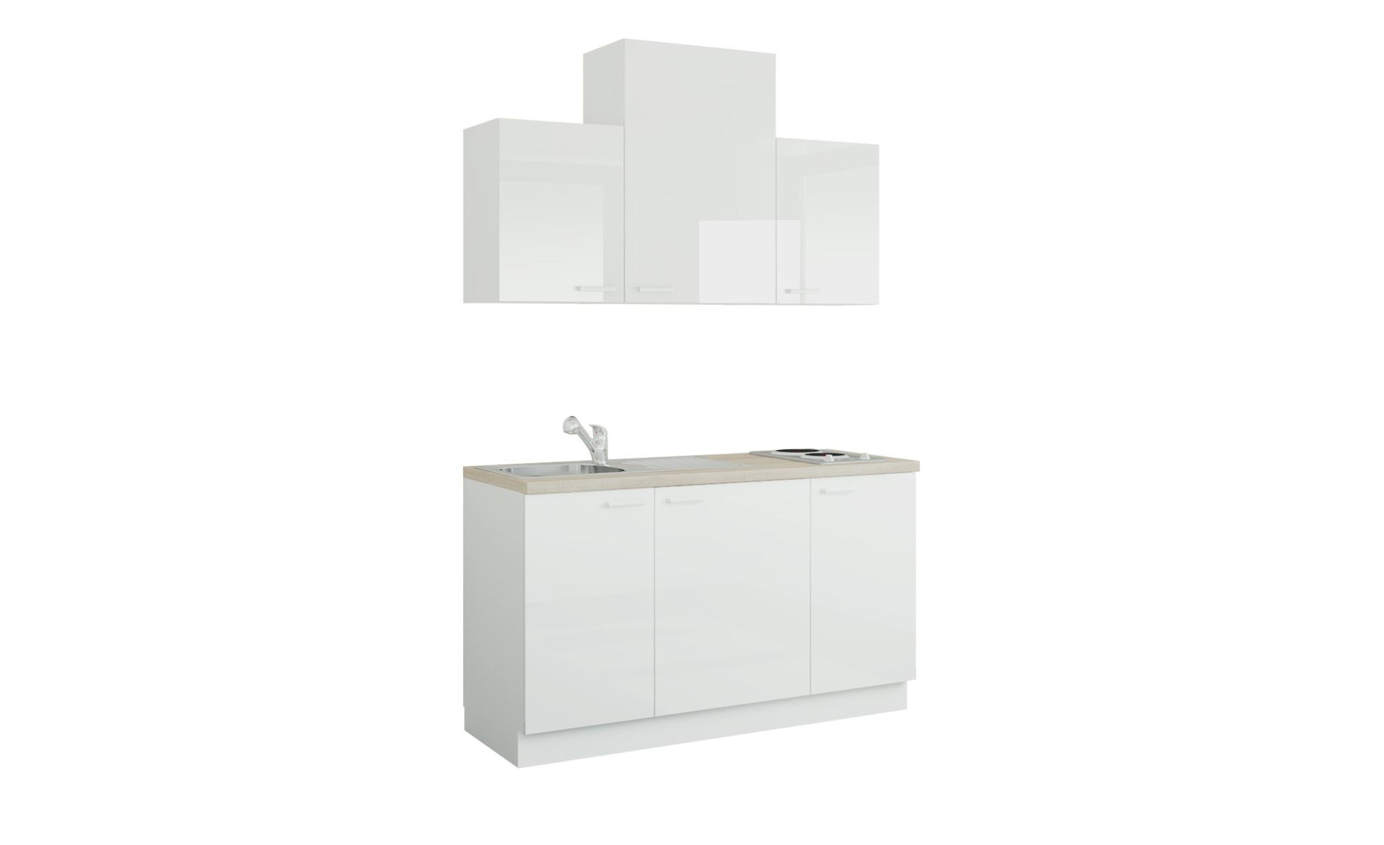 Küchenzeile mit Elektrogeräten  Aue ¦ weiß ¦ Maße (cm): B: 150 Küchen > Küchenblöcke mit E-Geräten - Höffner