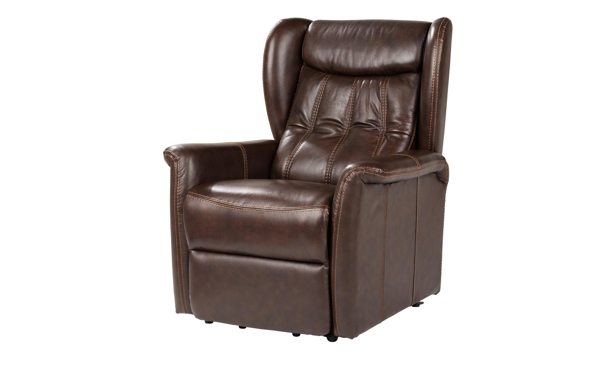 uno Fernsehsessel mit Relaxfunktion braun - Leder Idita ¦ braun ¦ Maße (cm): B: 86 H: 102 T: 93 Polstermöbel > Sessel > Ledersessel - Höffner