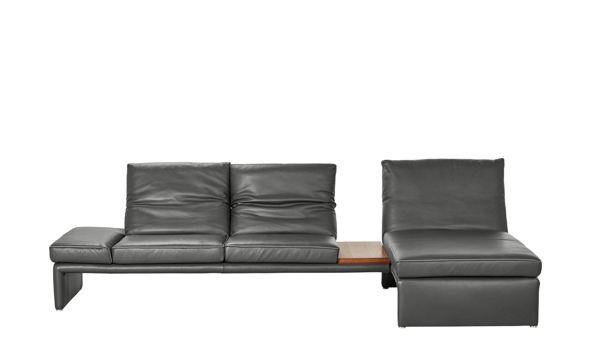 KOINOR Design-Couch mit Ablagefläche  Raoul ¦ grau ¦ Maße (cm): H: 99 Polstermöbel > Sofas > Ecksofas - Höffner
