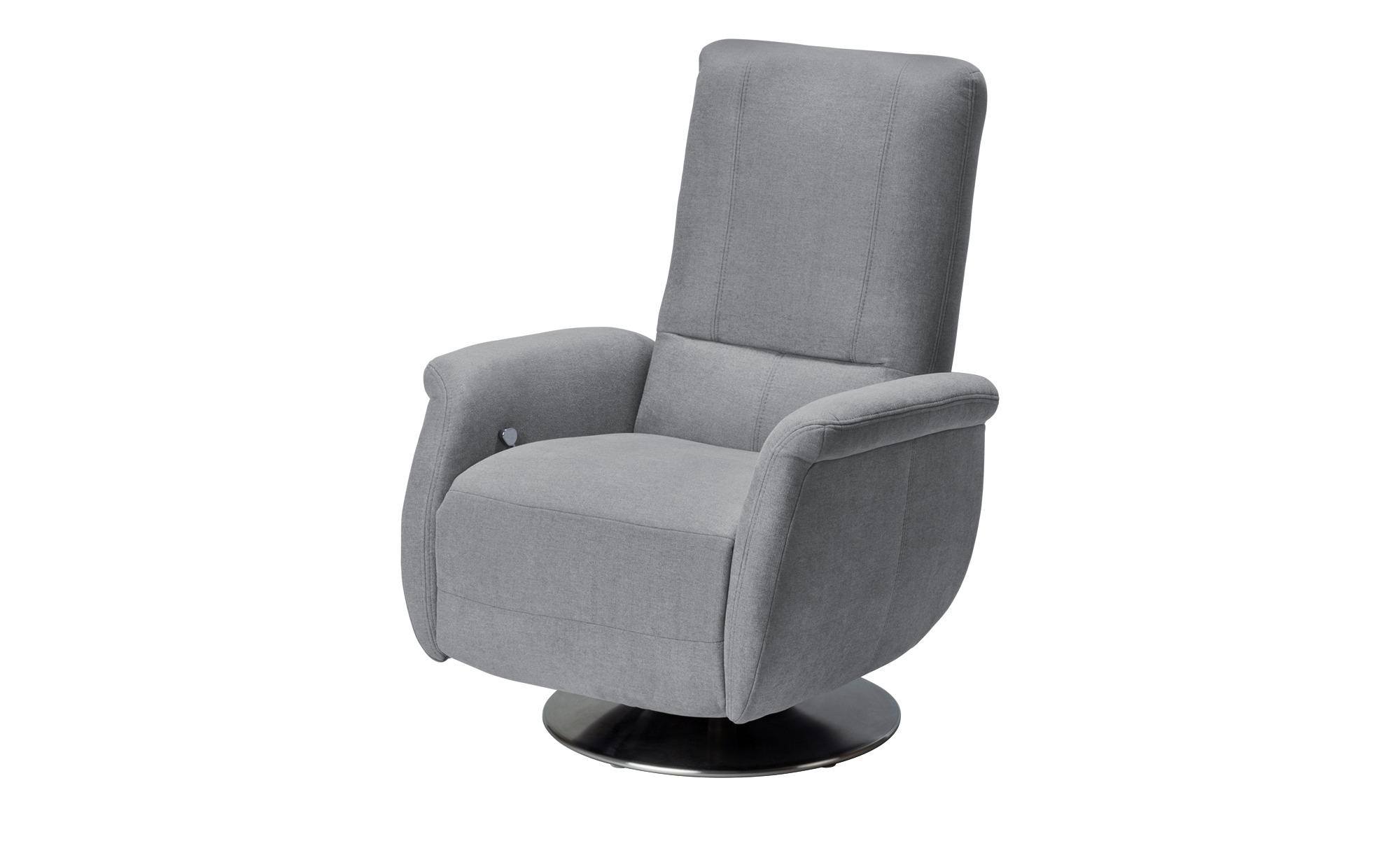 meinSofa Relaxsessel grau - Stoff Felix ¦ grau Polstermöbel > Sessel > Fernsehsessel - Höffner