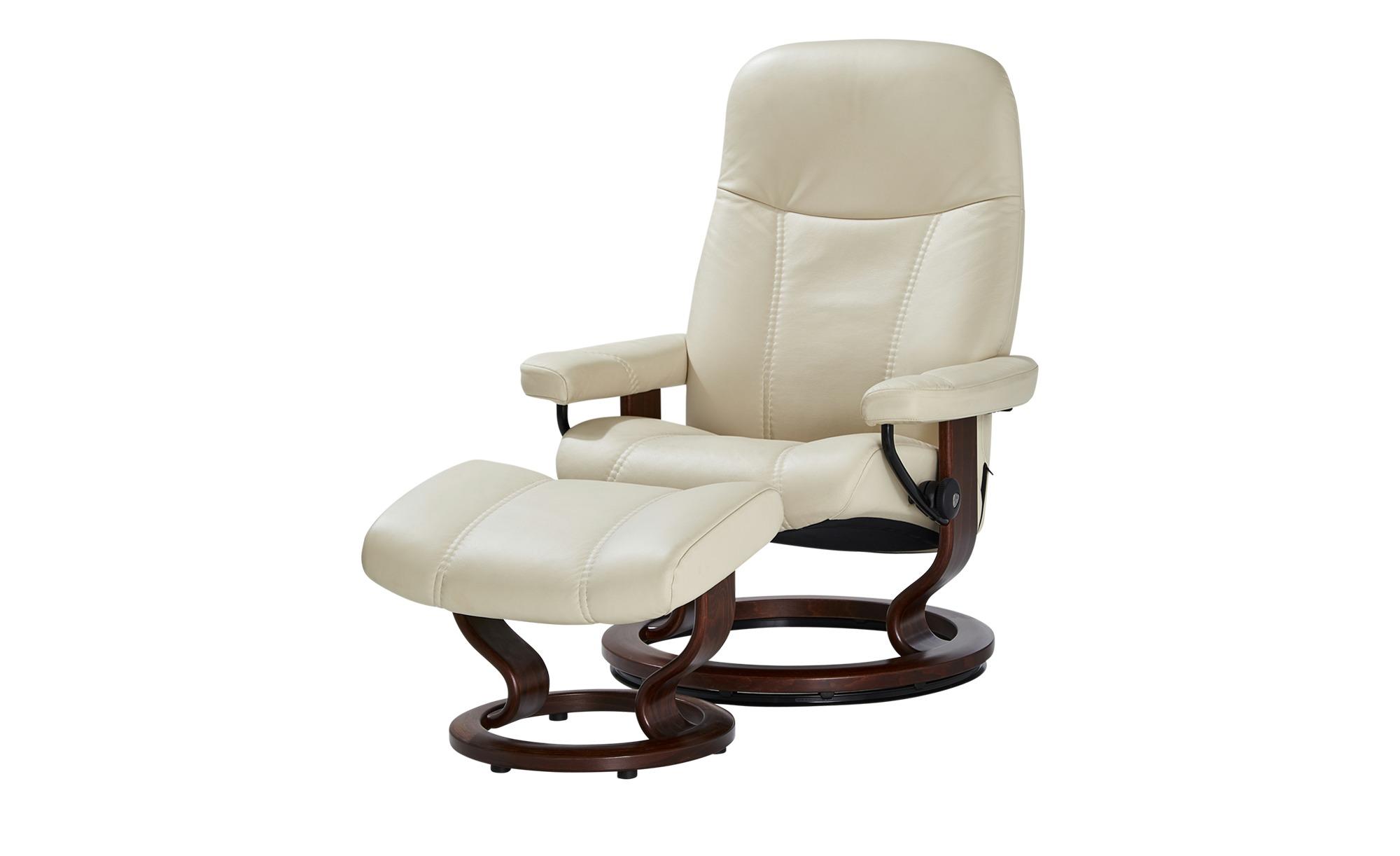 Stressless Relaxsessel mit Hocker  Consul ¦ creme ¦ Maße (cm): B: 75 H: 100 T: 71 Polstermöbel > Sessel > Fernsehsessel - Höffner