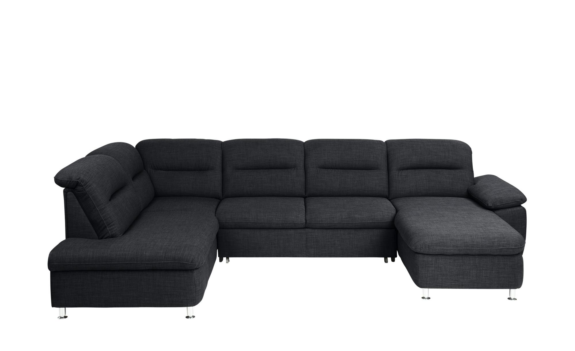 meinsofa wohnlandschaft mit schlaffunktion anthrazit. Black Bedroom Furniture Sets. Home Design Ideas