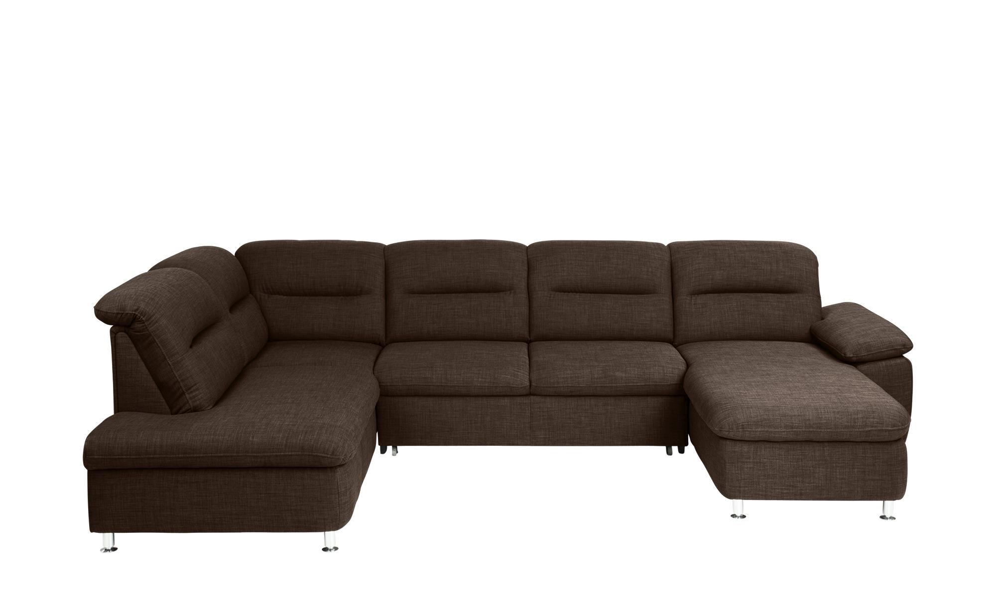 meinsofa wohnlandschaft mit schlaffunktion braun. Black Bedroom Furniture Sets. Home Design Ideas