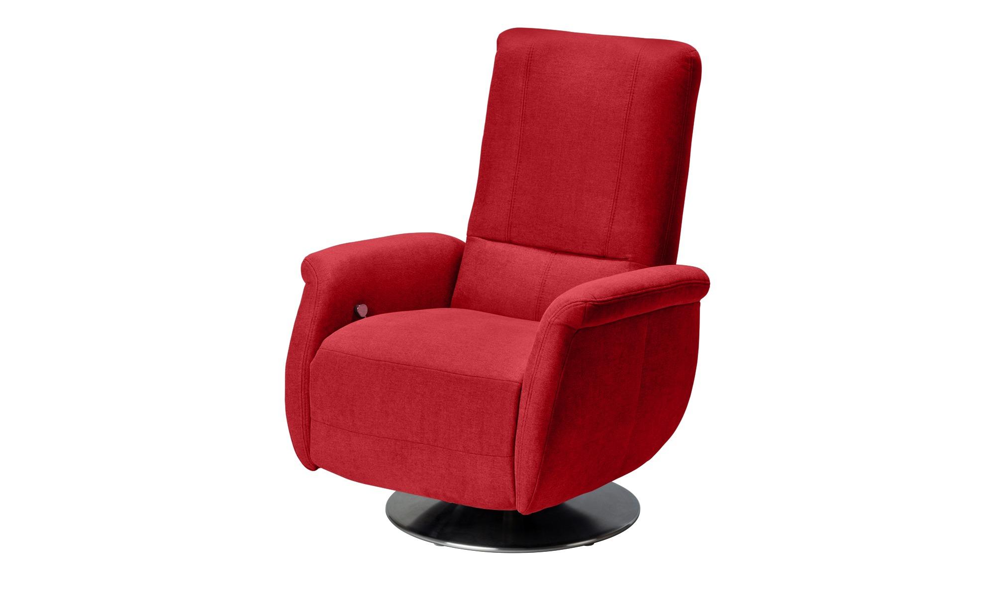 meinSofa Relaxsessel rot - Stoff Felix ¦ rot Polstermöbel > Sessel > Fernsehsessel - Höffner