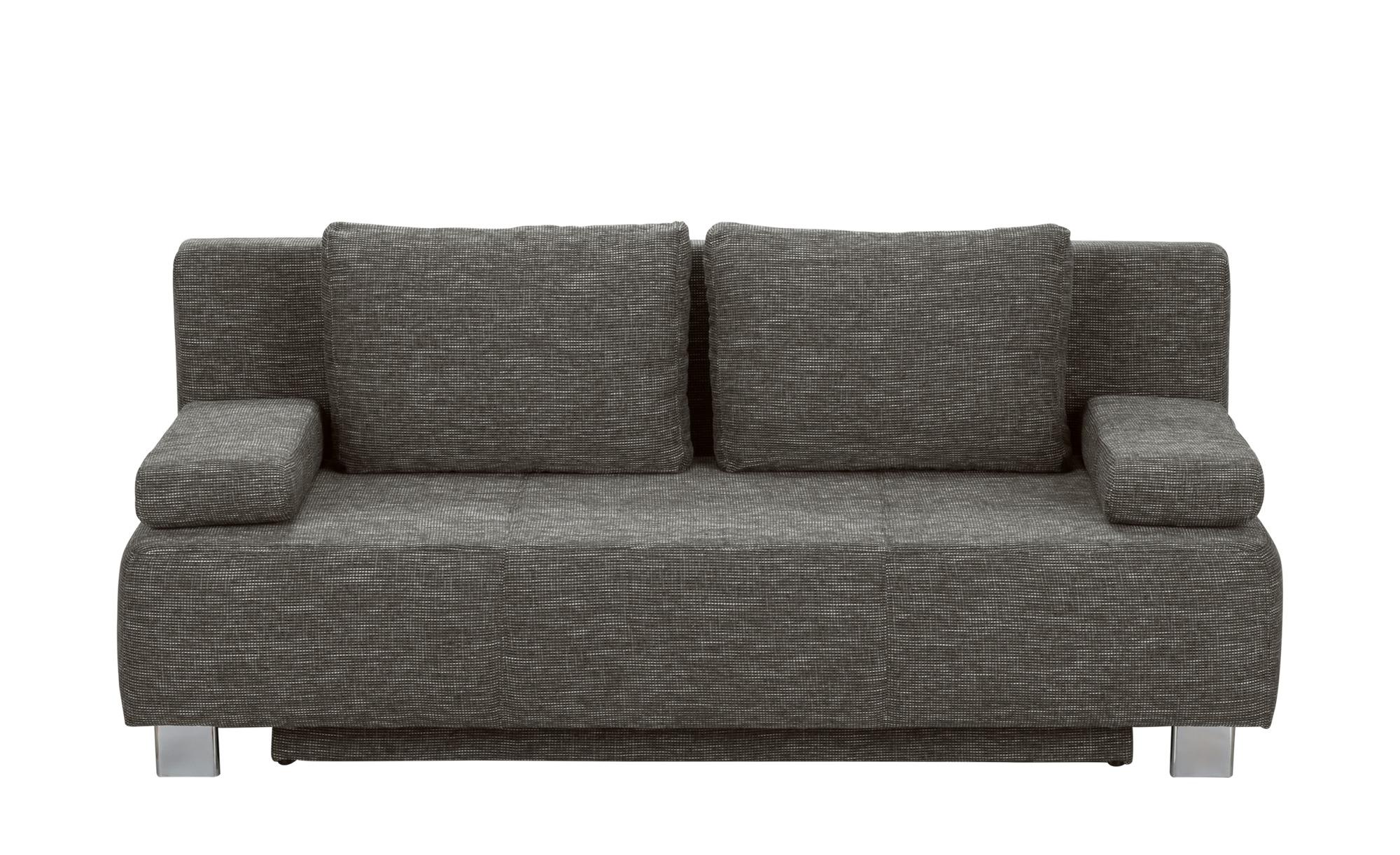 Schlafcouch grau - Webstoff Donald ¦ grau ¦ Maße (cm): B: 197 H: 88 T: 89 Polstermöbel > Sofas > 2-Sitzer - Höffner