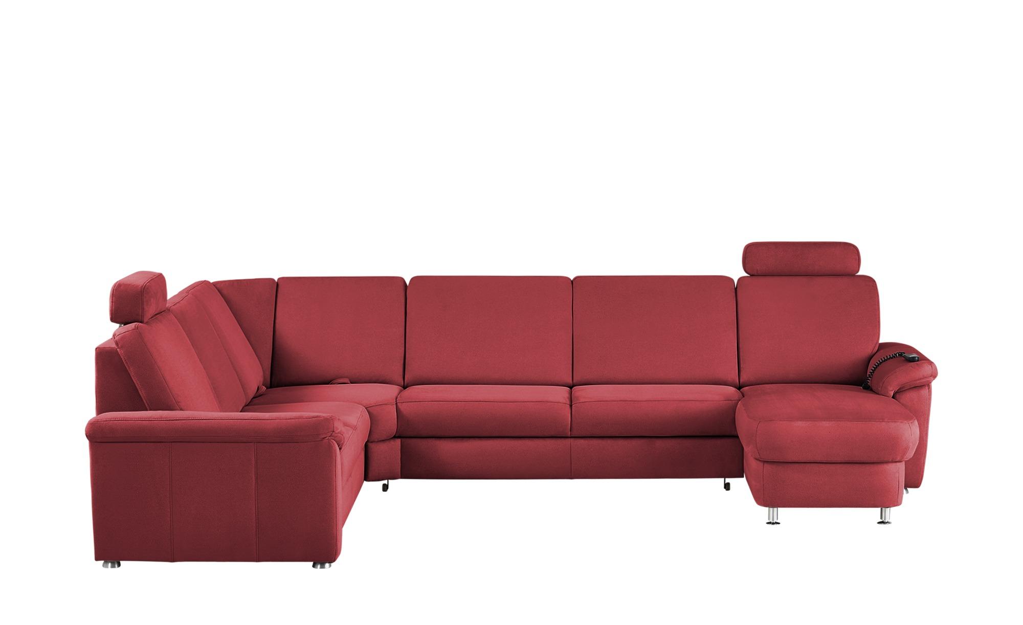 meinSofa Wohnlandschaft rot - Mikrofaser Rita ¦ rot ¦ Maße (cm): H: 91 Polstermöbel > Sofas > Schlafsofas - Höffner