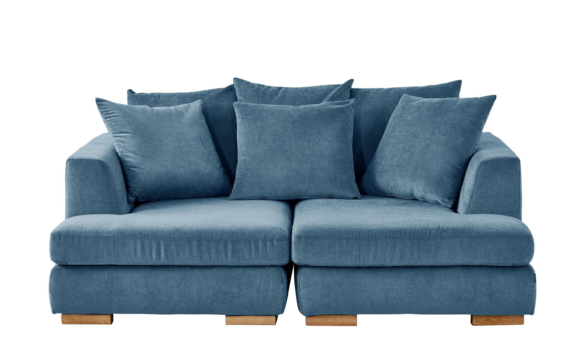 SOHO Loveseat blau - Webstoff Paulina ¦ Maße (cm): B: 202 H: 80 T: 156 Polstermöbel > Sofas > 2-Sitzer - Höffner