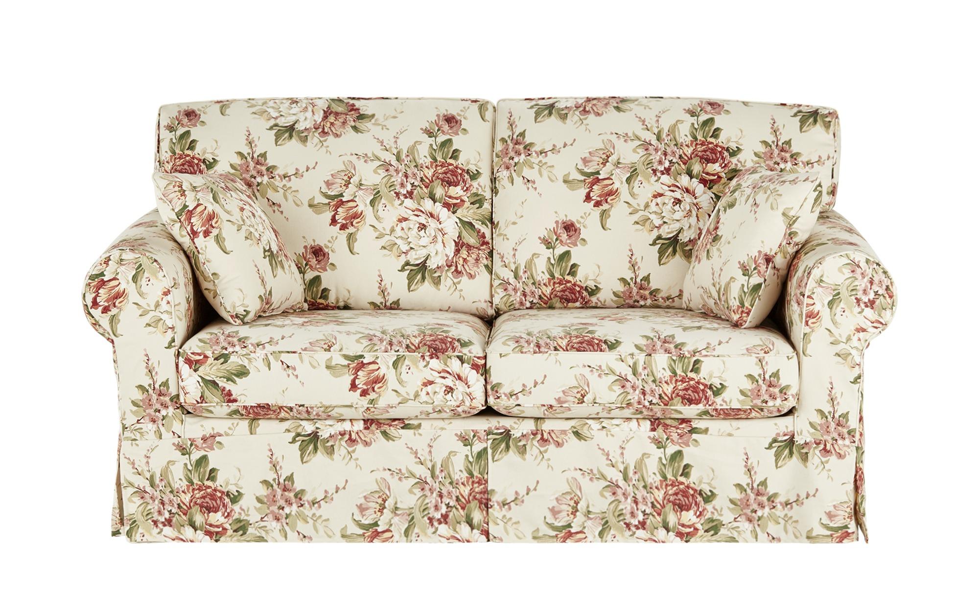 SOHO Sofa 2,5-sitzig mit Husse creme/rosa - Webstoff Chaneel ¦ mehrfarbig ¦ Maße (cm): B: 180 H: 94 T: 92 Polstermöbel > Sofas > Einzelsofas - Höffner