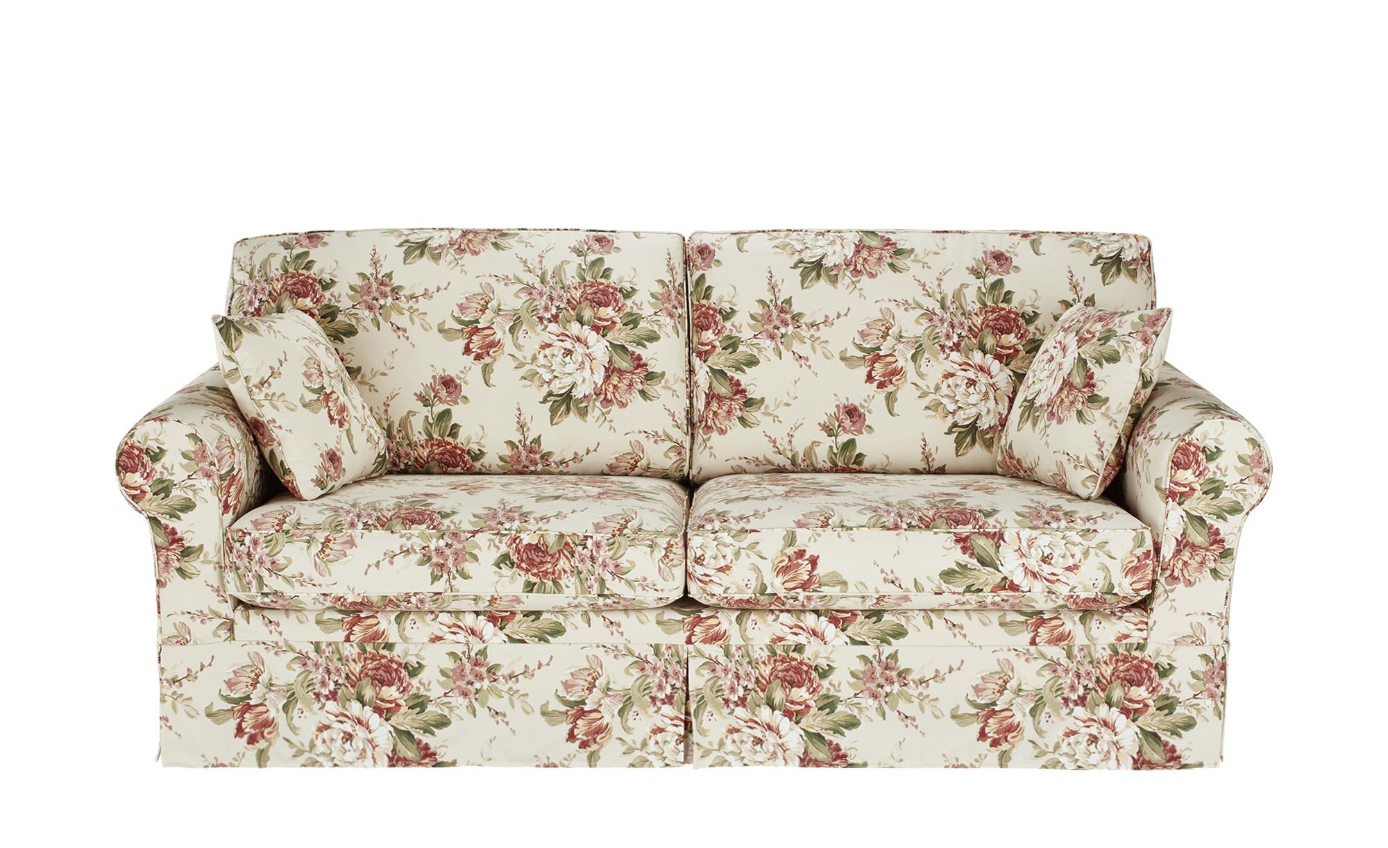 SOHO Sofa 3-sitzig mit Husse creme/rosa - Webstoff Chaneel ¦ mehrfarbig ¦ Maße (cm): B: 212 H: 94 T: 92 Polstermöbel > Sofas > Einzelsofas - Höffner