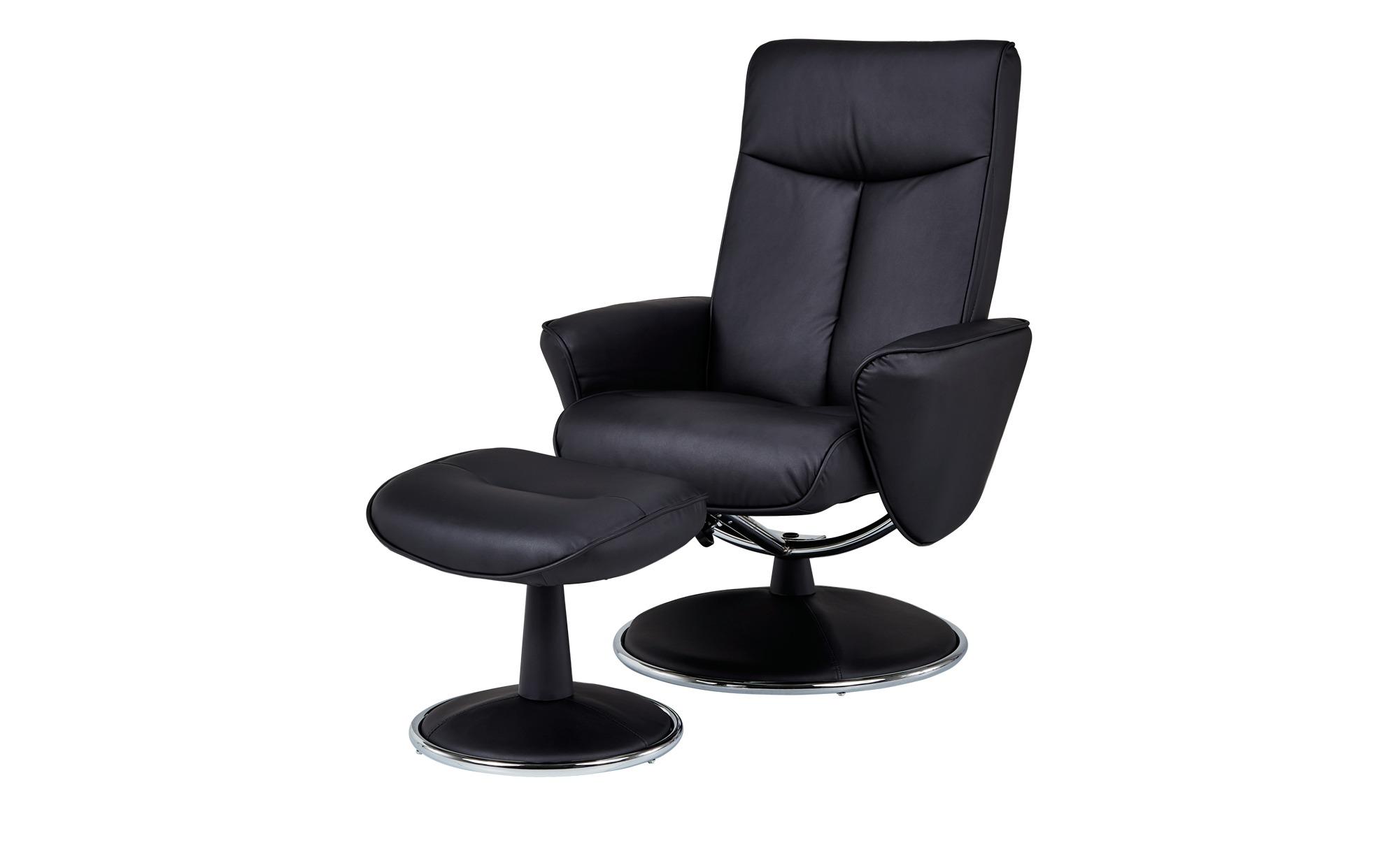 Relaxsessel schwarz - Kunstleder Abby ¦ schwarz ¦ Maße (cm): B: 82 H: 104,5 T: 110 Polstermöbel > Sessel > Fernsehsessel - Höffner
