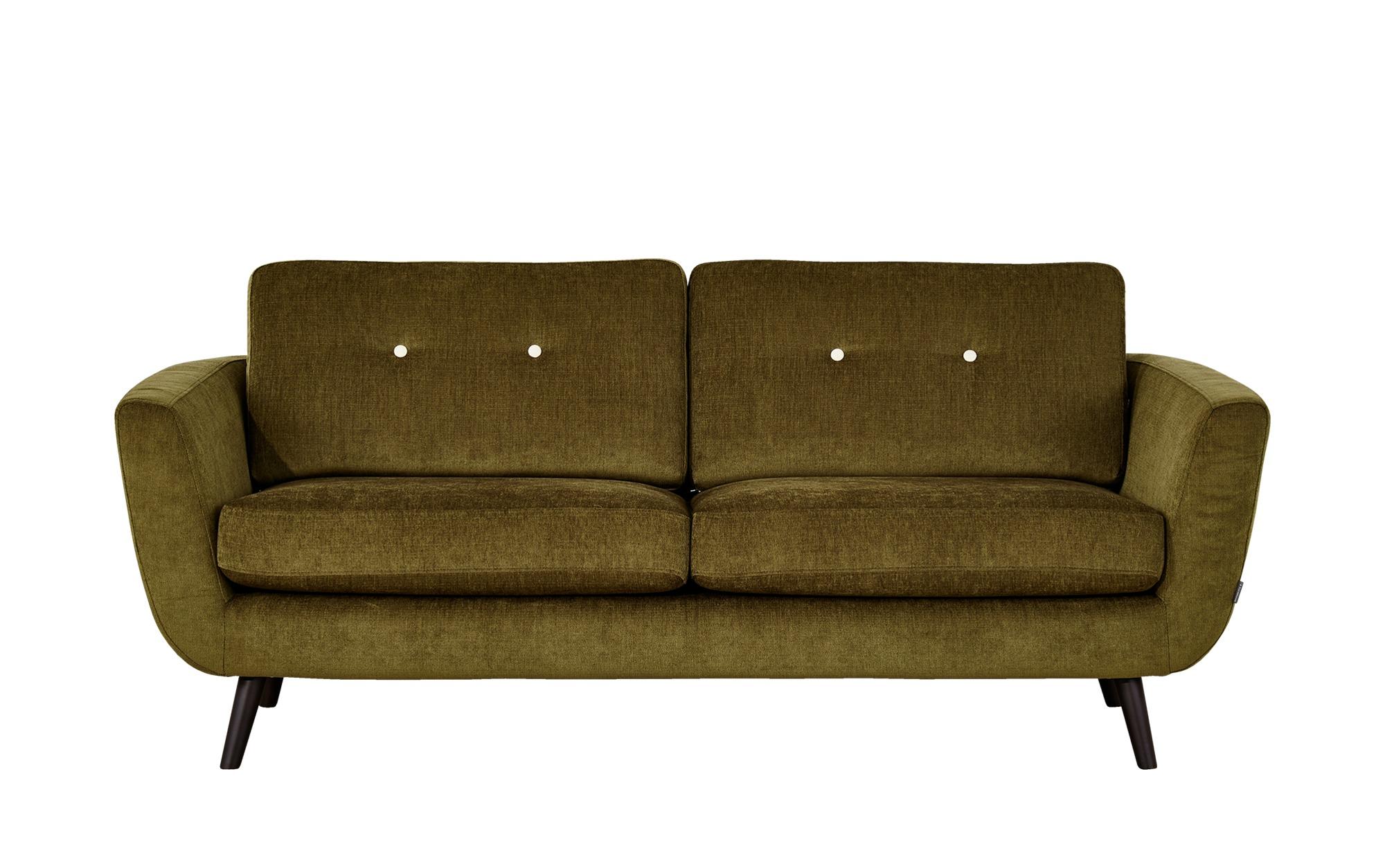 SOHO Sofa 2,5-sitzig grün - Webstoff Smilla ¦ grün ¦ Maße (cm): B: 197 H: 78 T: 93 Polstermöbel > Sofas > Einzelsofas - Höffner