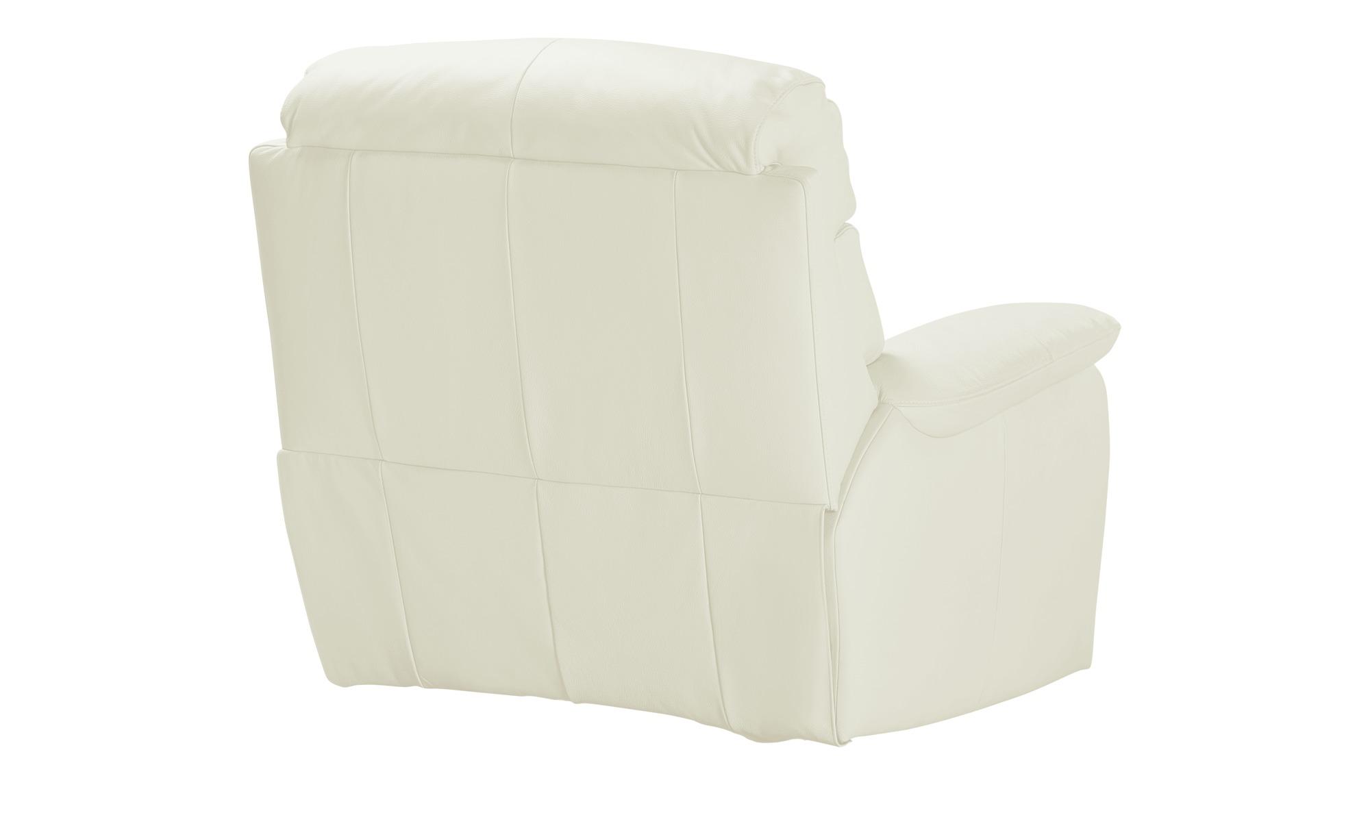 Wohnwert Weißer Ledersessel  Ambra ¦ weiß ¦ Maße (cm): B: 106 H: 102 T: 102 Polstermöbel > Sessel > Ledersessel - Höffner