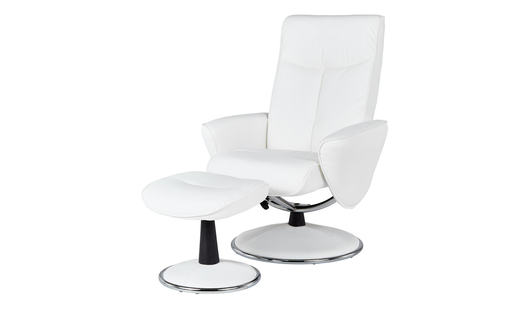 Relaxsessel  weiß - Kunstleder Abby ¦ weiß ¦ Maße (cm): B: 82 H: 104,5 T: 110 Polstermöbel > Sessel > Fernsehsessel - Höffner