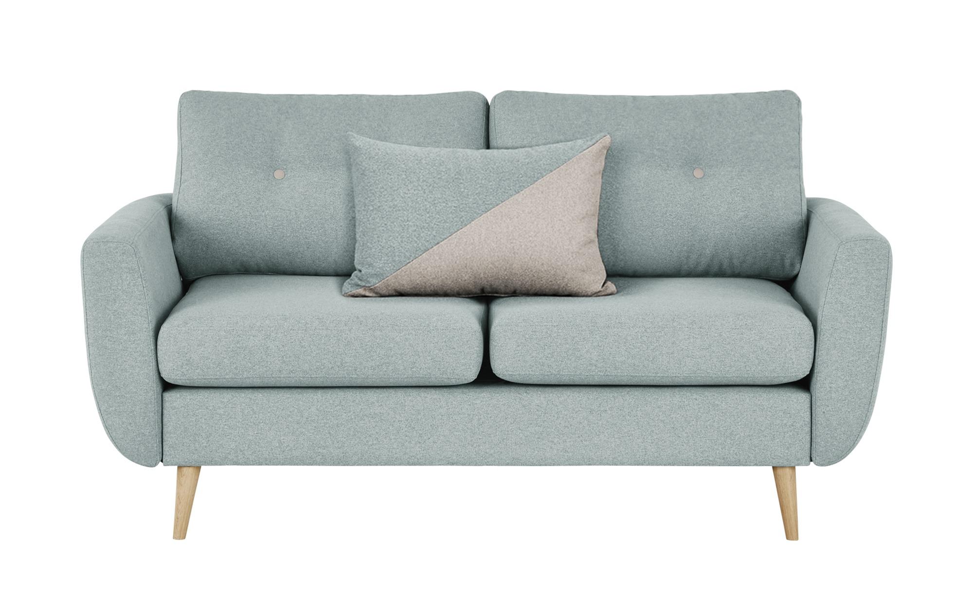 finya Sofa 2-sitzig mintgrün - Webstoff Harris ¦ grau ¦ Maße (cm): B: 161 H: 85 T: 92 Polstermöbel > Sofas > 2-Sitzer - Höffner