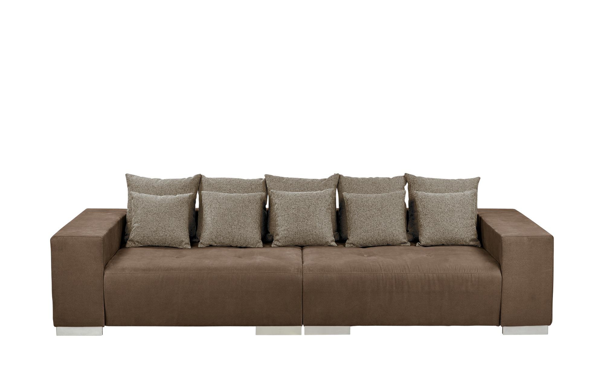 switch Big-Sofa braun - Mikrofaser Max | Braun, Beige