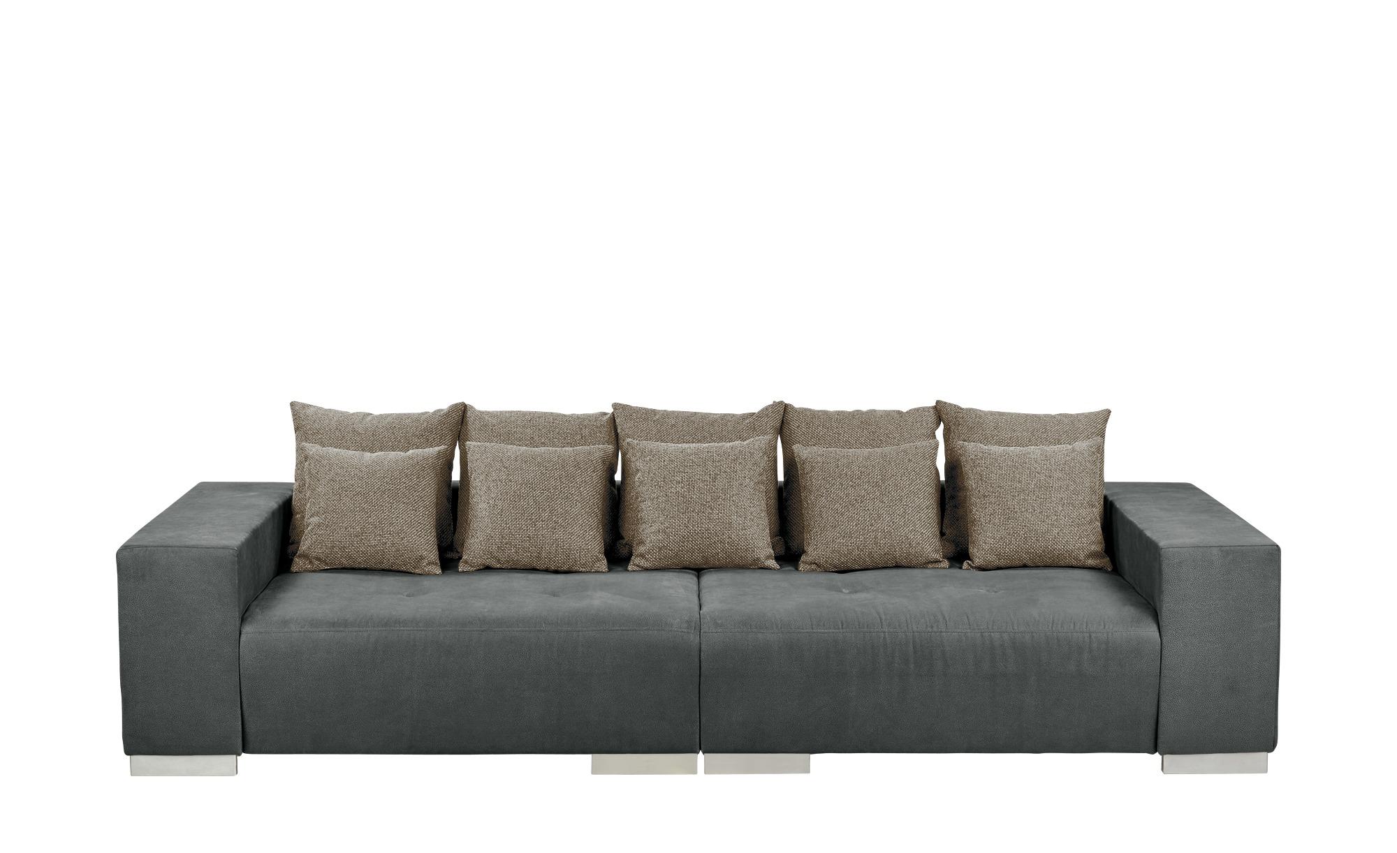 switch Big Sofa dunkelgrau - Mikrofaser Max ¦ grau ¦ Maße (cm): B: 300 H: 85 T: 136 Polstermöbel > Sofas > Big-Sofas - Höffner | Wohnzimmer > Sofas & Couches > Bigsofas | Grau | Mikrofaser - Massivholz | Möbel Höffner DE