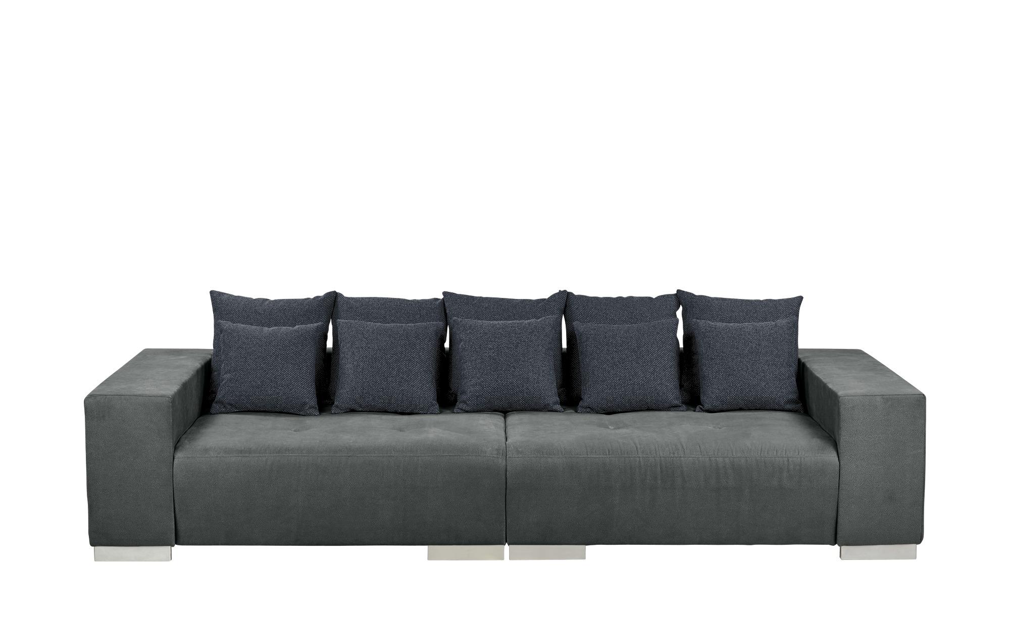 switch Big Sofa dunkelgrau - Mikrofaser Max ¦ grau ¦ Maße (cm): B: 300 H: 85 T: 136 Polstermöbel > Sofas > Big-Sofas - Höffner