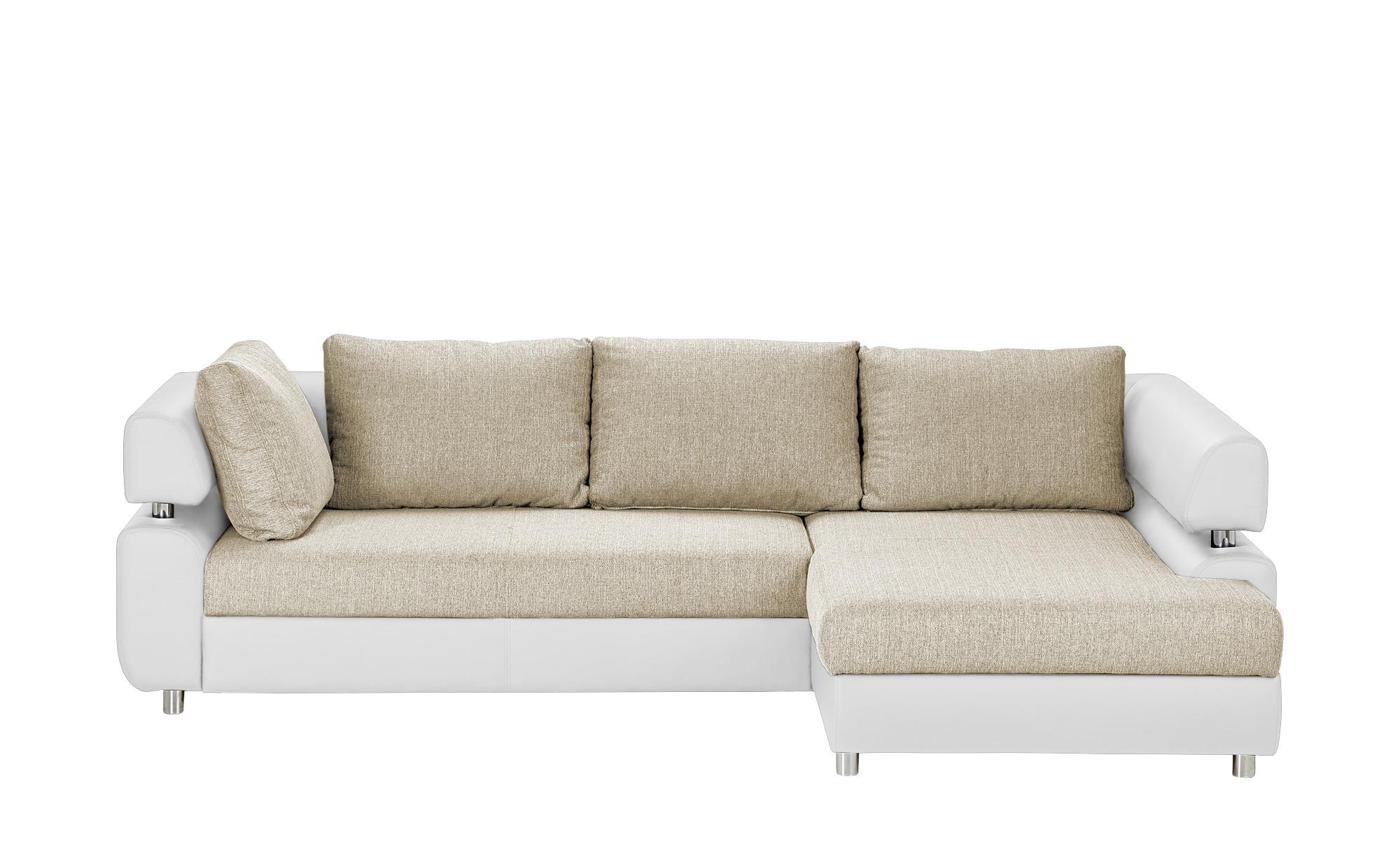 switch Ecksofa weiß/beige - Kunstleder/Webstoff Panama ¦ beige ¦ Maße (cm): H: 72 Polstermöbel > Sofas > Ecksofas - Höffner