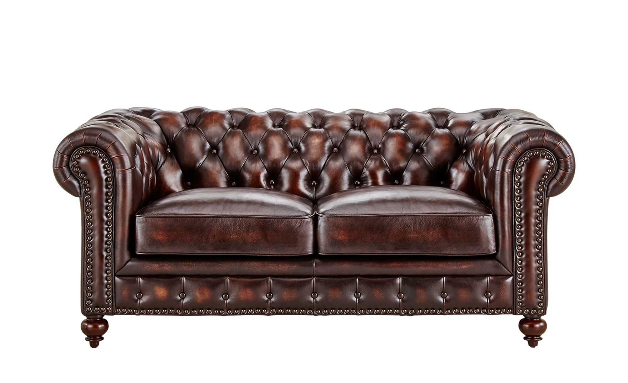 uno Sofa 2-sitzig braun - Leder Chesterfield ¦ braun ¦ Maße (cm): B: 183 H: 80 T: 100 Polstermöbel > Sofas > 2-Sitzer - Höffner