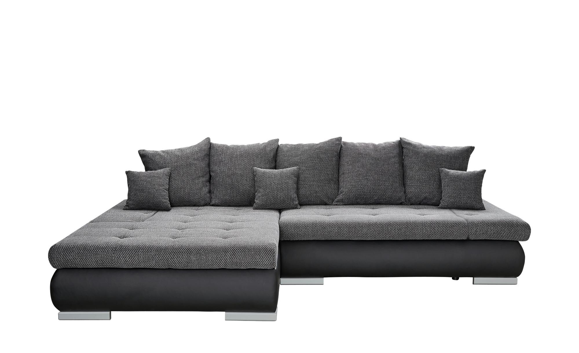 switch Eckcouch schwarz/grau - Kunstleder/Webstoff Ivan ¦ grau ¦ Maße (cm): H: 80 Polstermöbel > Sofas > Ecksofas - Höffner