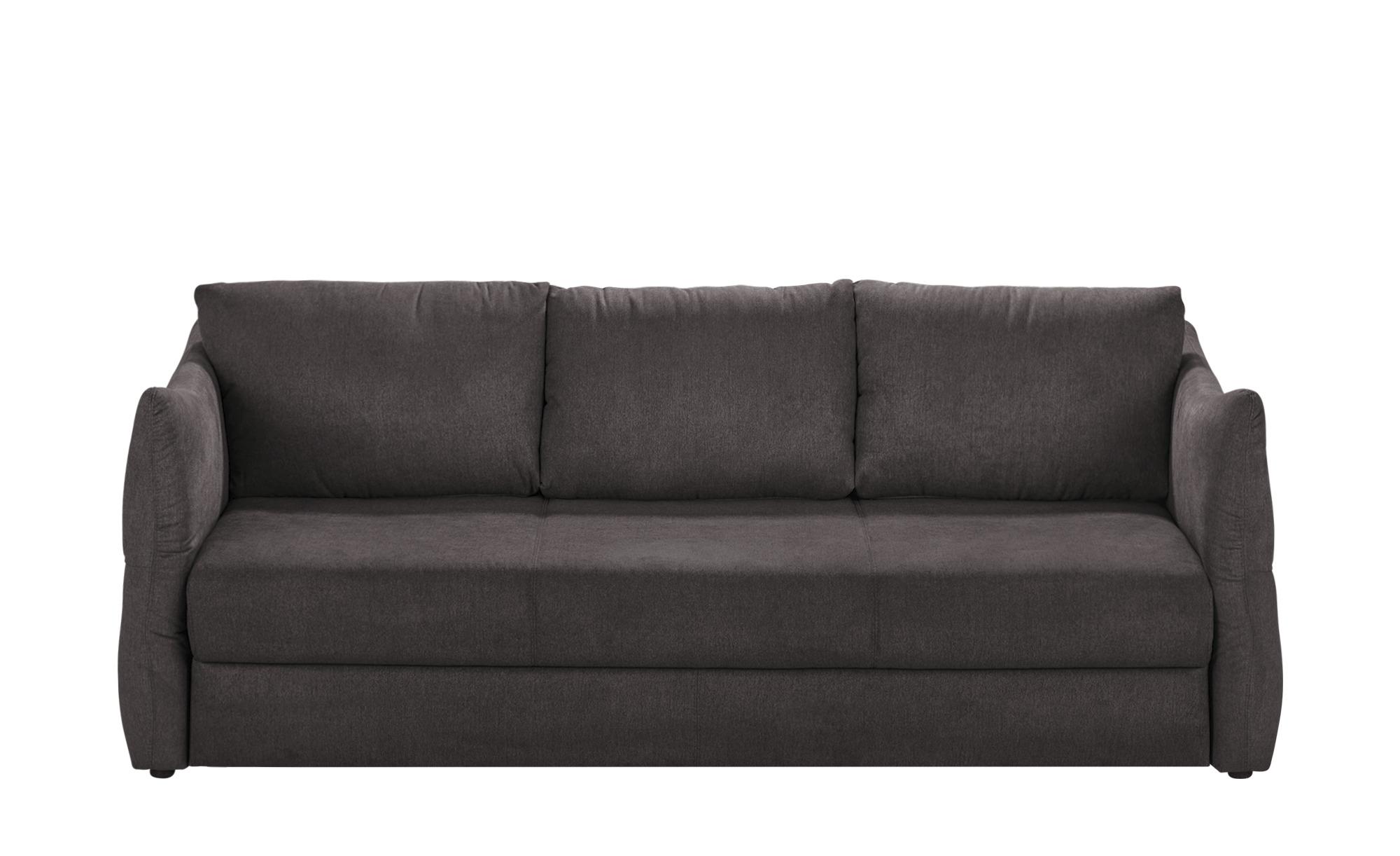 smart Sofa 3-sitzig dunkelgrau - Webstoff Franziska ¦ grau ¦ Maße (cm): B: 226 H: 87 T: 100 Polstermöbel > Sofas > 3-Sitzer - Höffner