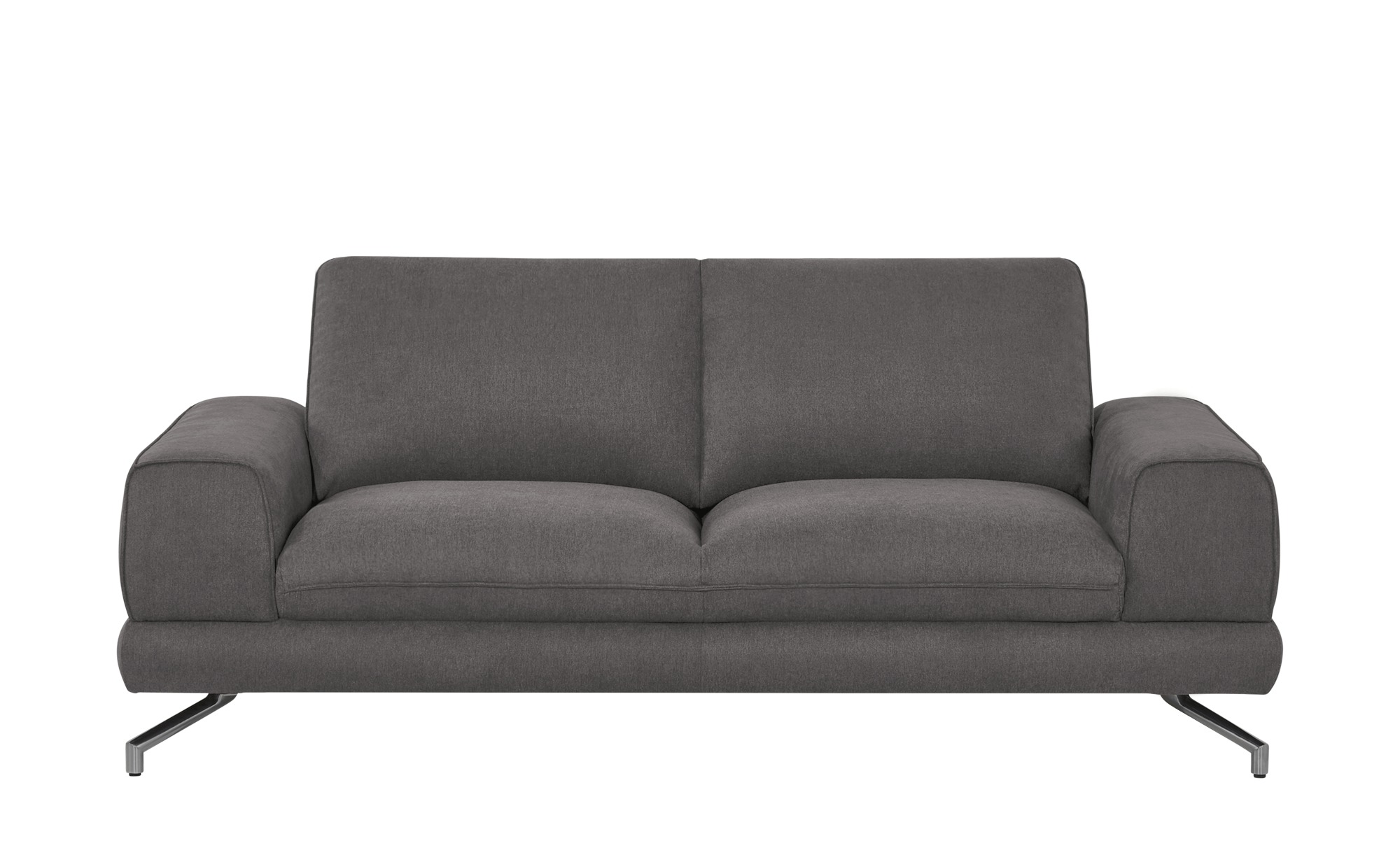 smart Sofa 2,5-sitzig dunkelgrau - Stoff Bonika ¦ grau ¦ Maße (cm): B: 198 H: 83 T: 95 Polstermöbel > Sofas > Einzelsofas - Höffner