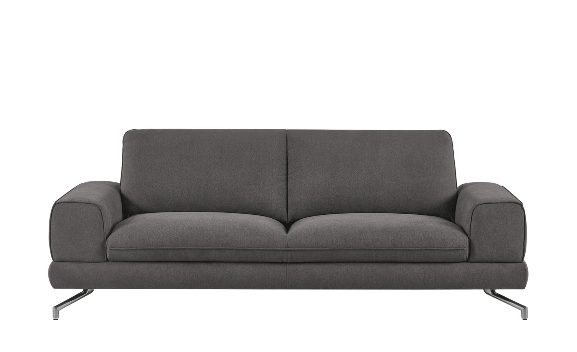 smart Sofa 3-sitzig dunkelgrau - Stoff Bonika ¦ grau ¦ Maße (cm): B: 218 H: 83 T: 95 Polstermöbel > Sofas > 3-Sitzer - Höffner
