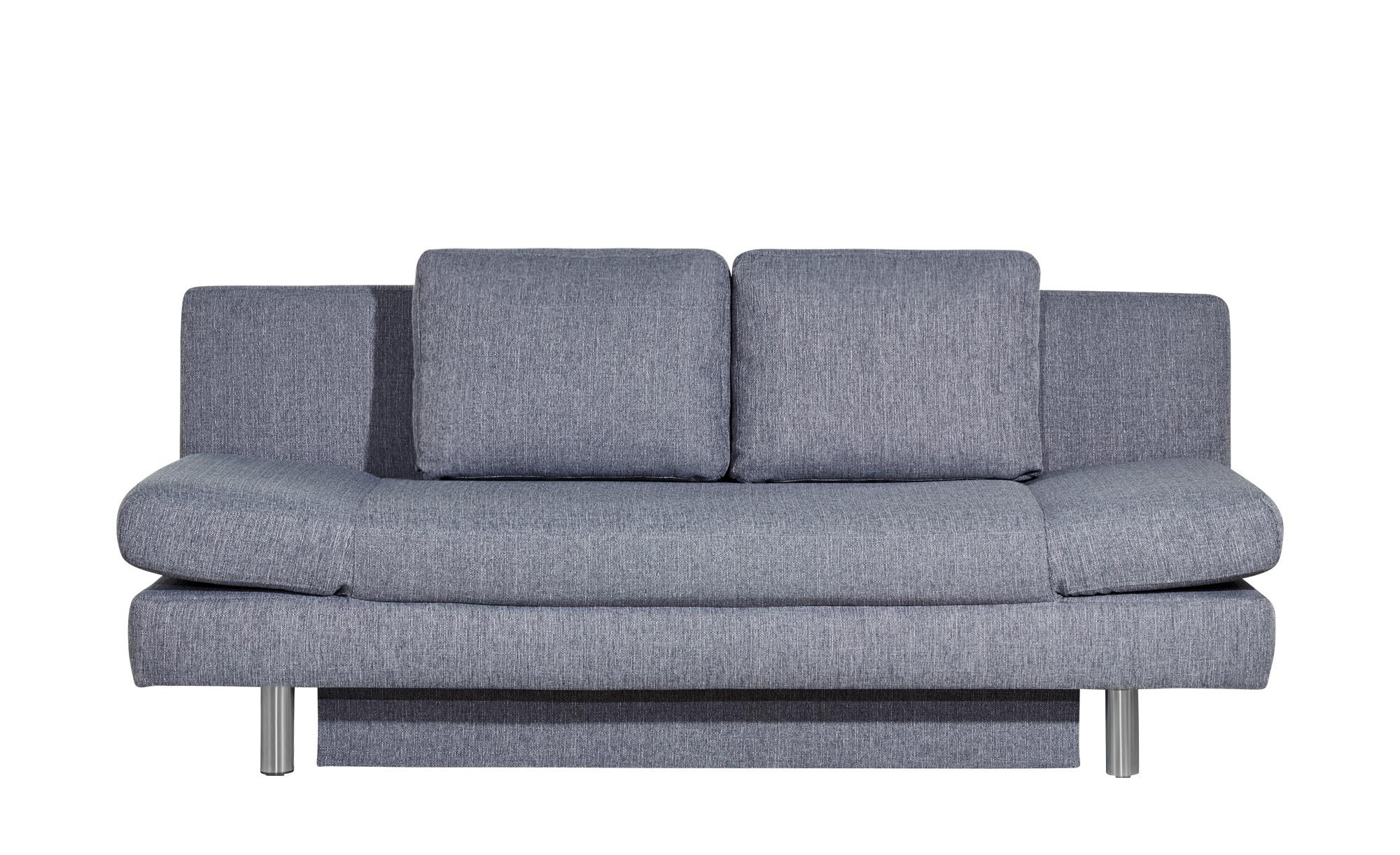 smart Schlafsofa grau - Webstoff Nina ¦ grau ¦ Maße (cm): B: 205 H: 90 T: 95 Polstermöbel > Sofas > 2-Sitzer - Höffner