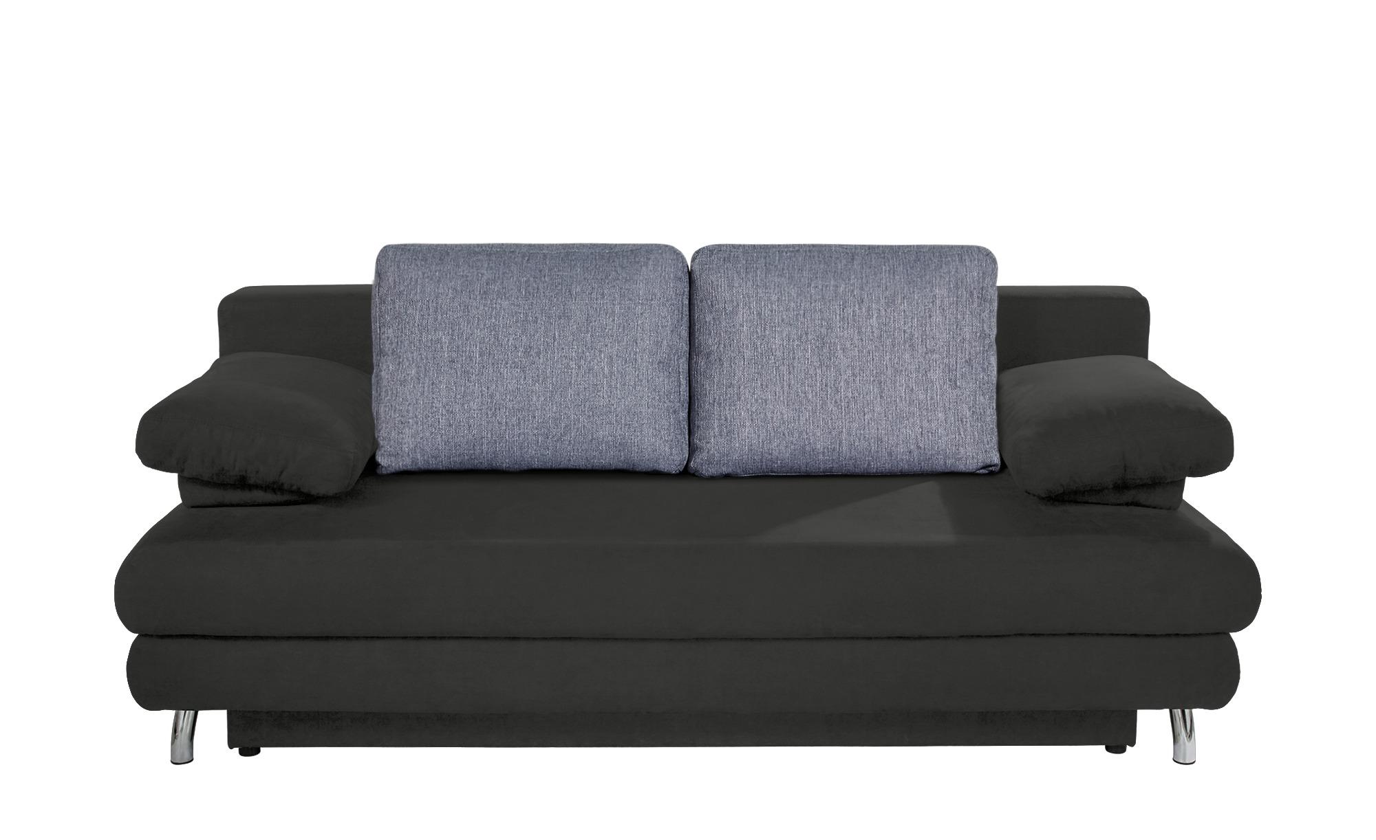 Schlafsofa grau - Webstoff Calina ¦ grau ¦ Maße (cm): B: 205 H: 80 T: 100 Polstermöbel > Sofas > 2-Sitzer - Höffner